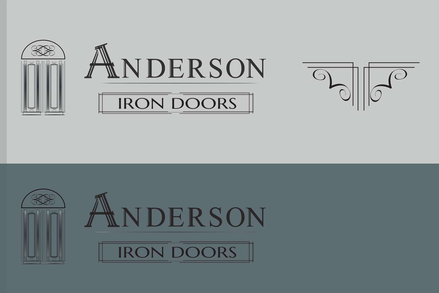 Logo Design by Rozsa Matyas - Entry No. 42 in the Logo Design Contest Artistic Logo Design for Anderson Iron Doors.