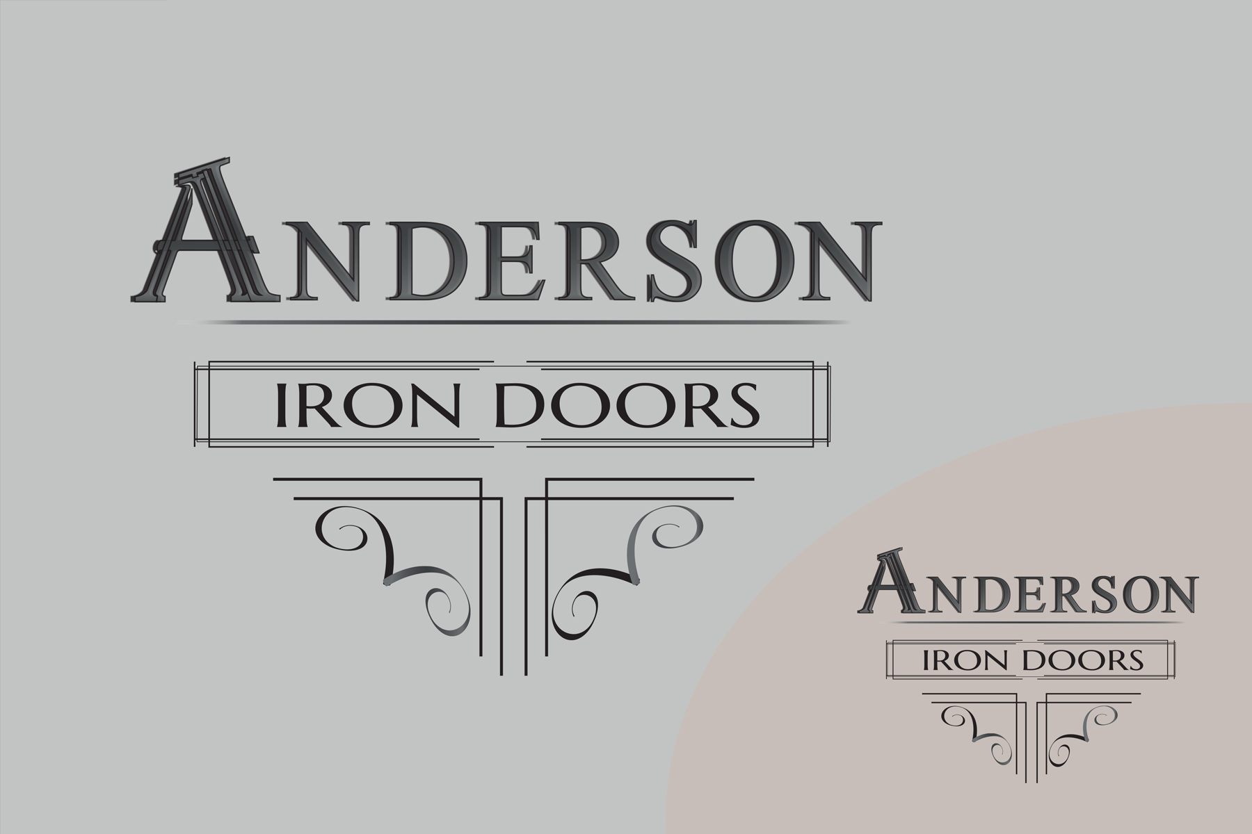 Logo Design by Rozsa Matyas - Entry No. 43 in the Logo Design Contest Artistic Logo Design for Anderson Iron Doors.