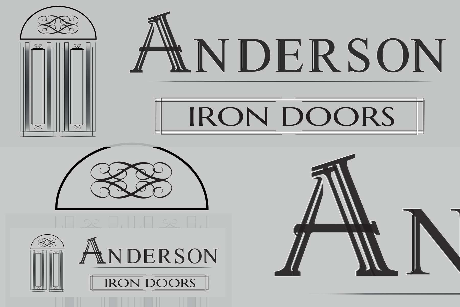 Logo Design by Rozsa Matyas - Entry No. 44 in the Logo Design Contest Artistic Logo Design for Anderson Iron Doors.