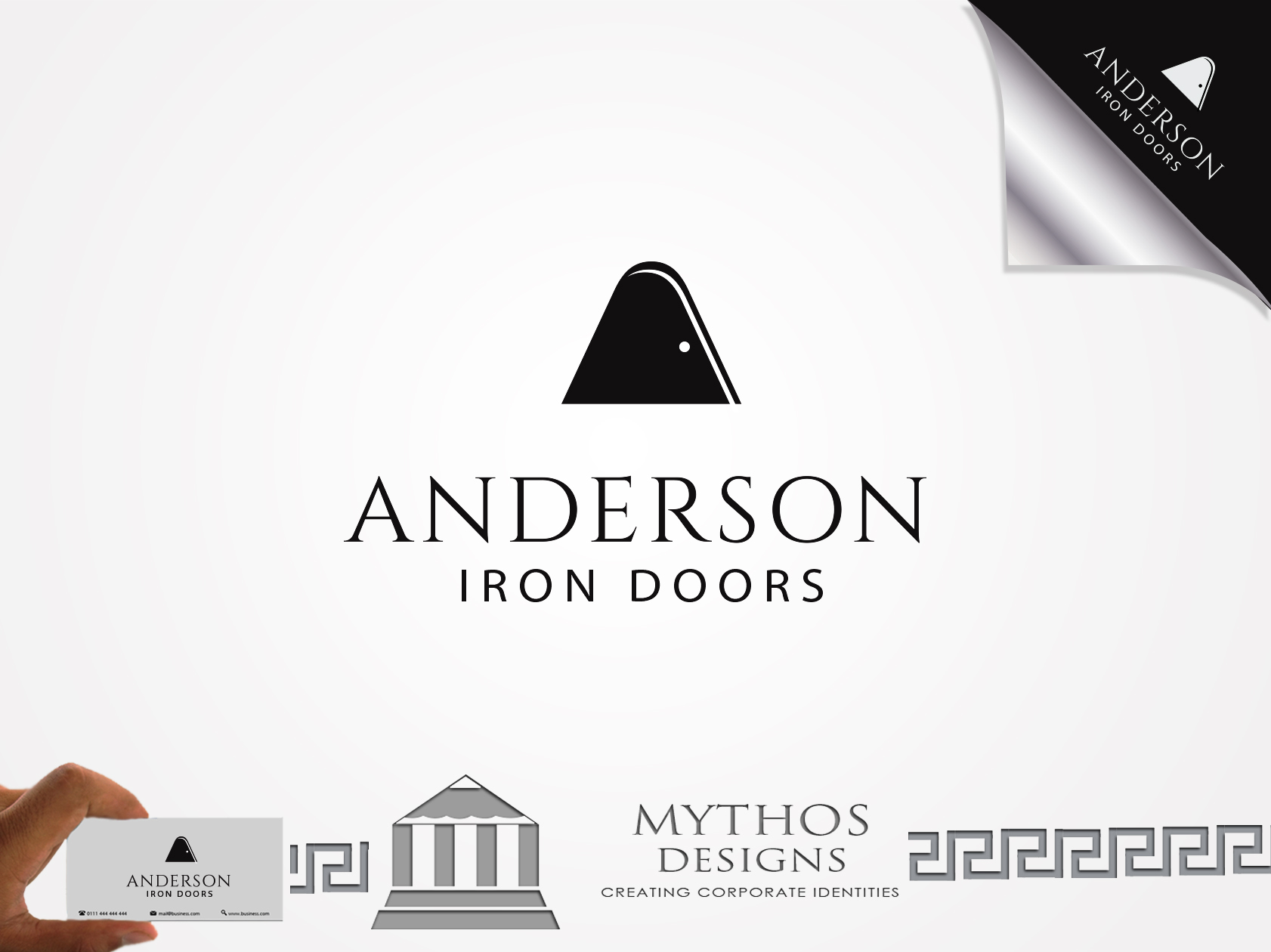 Logo Design by Mythos Designs - Entry No. 45 in the Logo Design Contest Artistic Logo Design for Anderson Iron Doors.