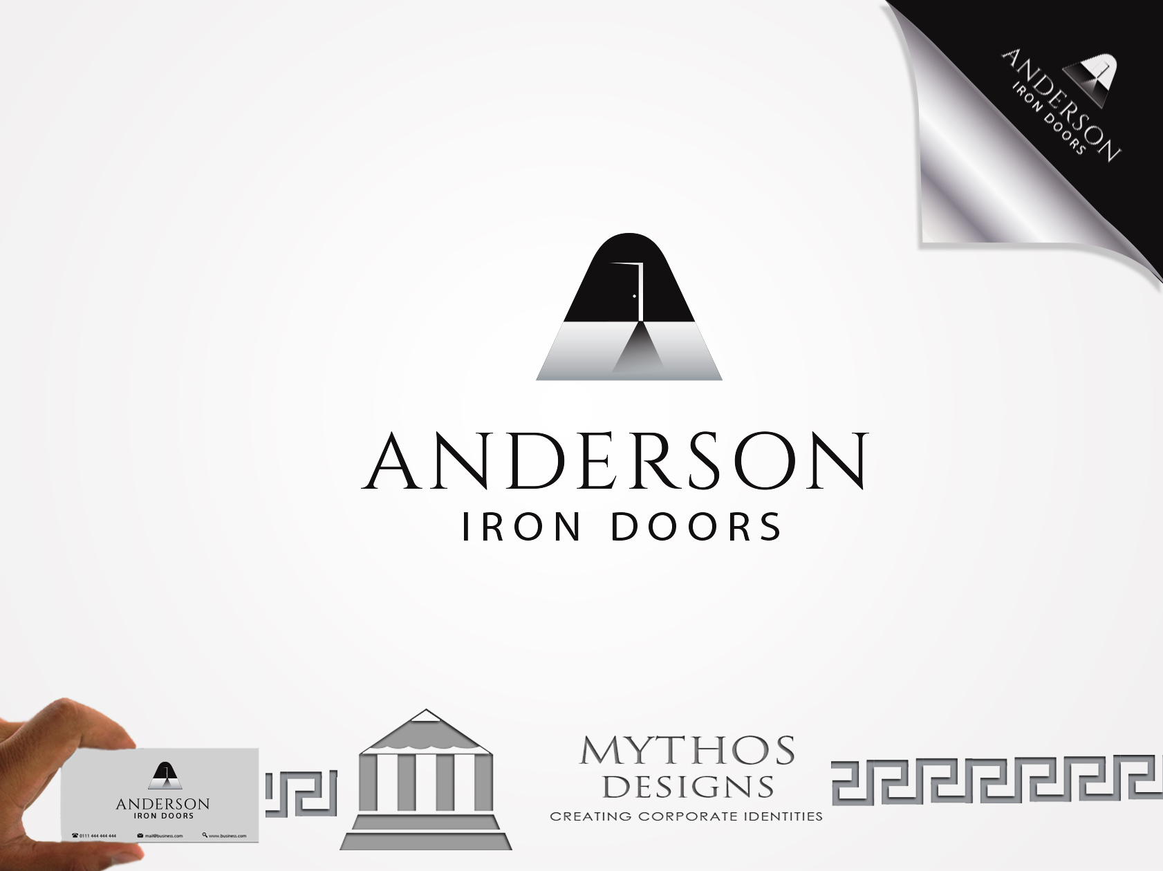 Logo Design by Mythos Designs - Entry No. 47 in the Logo Design Contest Artistic Logo Design for Anderson Iron Doors.