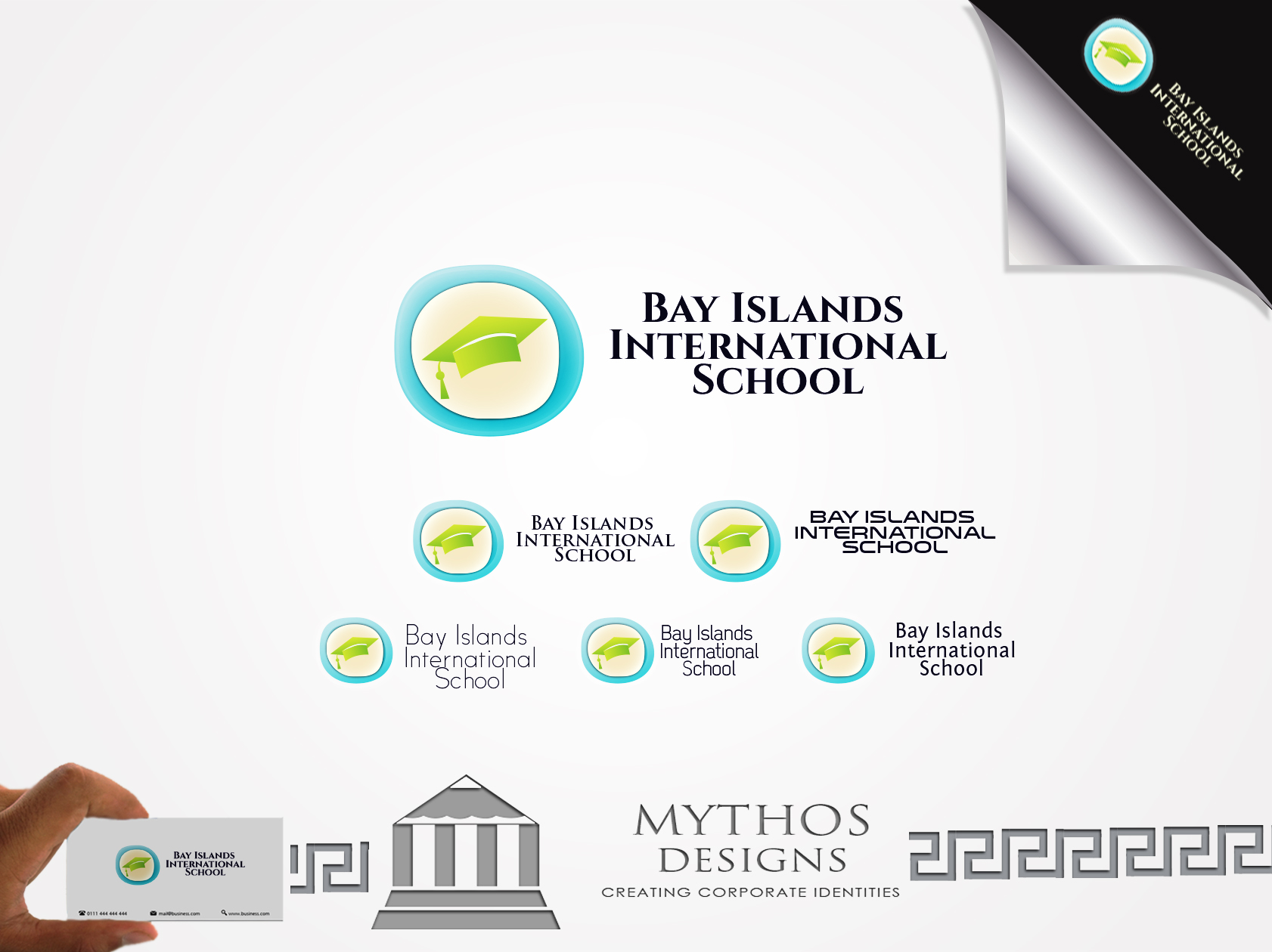 Logo Design by Mythos Designs - Entry No. 62 in the Logo Design Contest Creative Logo Design for Bay Islands International School.