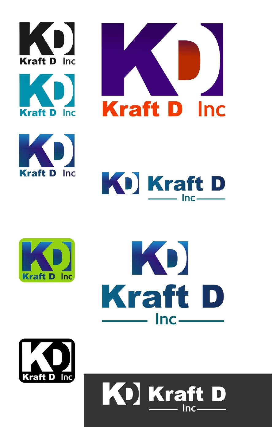 Logo Design by Private User - Entry No. 324 in the Logo Design Contest Unique Logo Design Wanted for Kraft D Inc.