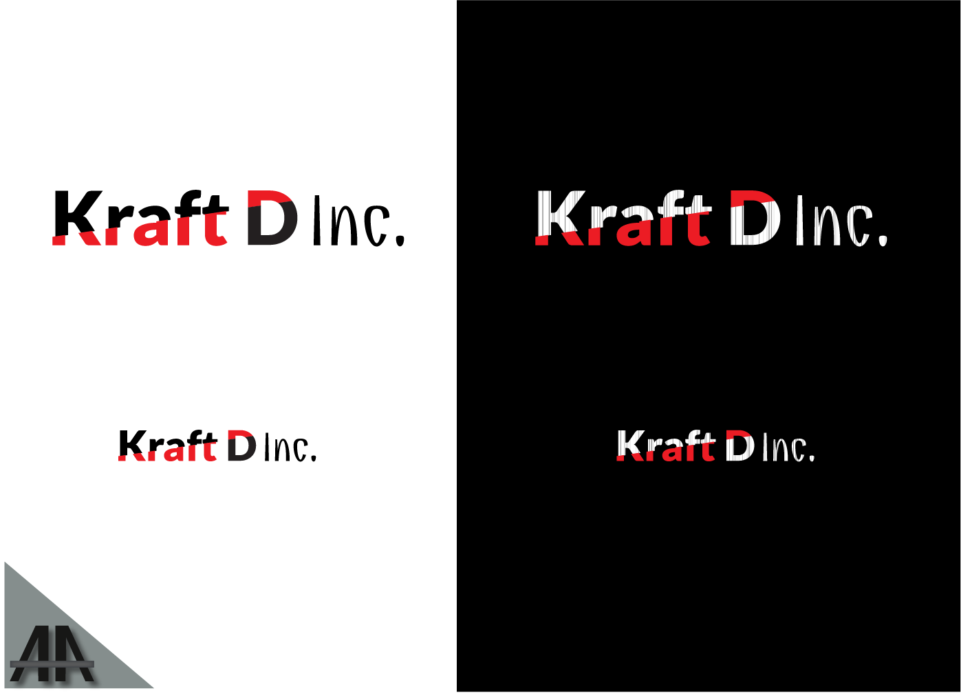 Logo Design by Thanasis Athanasopoulos - Entry No. 325 in the Logo Design Contest Unique Logo Design Wanted for Kraft D Inc.