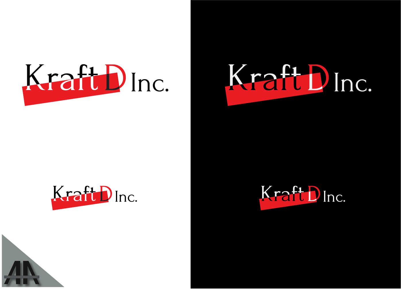 Logo Design by Thanasis Athanasopoulos - Entry No. 327 in the Logo Design Contest Unique Logo Design Wanted for Kraft D Inc.