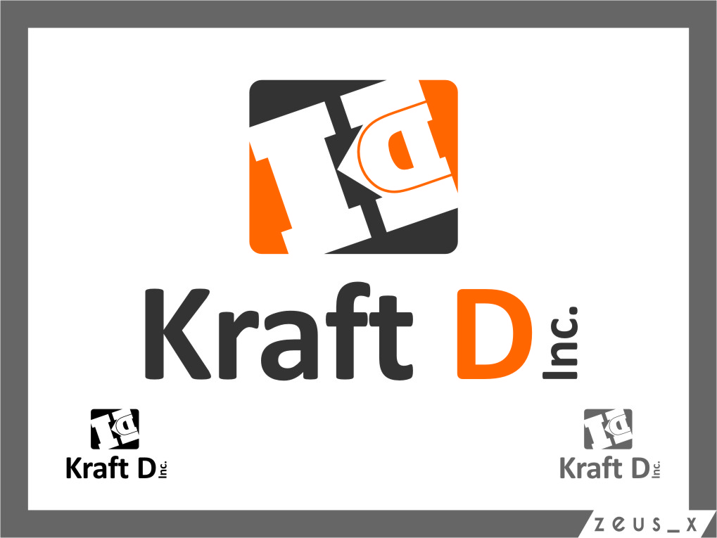 Logo Design by Ngepet_art - Entry No. 330 in the Logo Design Contest Unique Logo Design Wanted for Kraft D Inc.