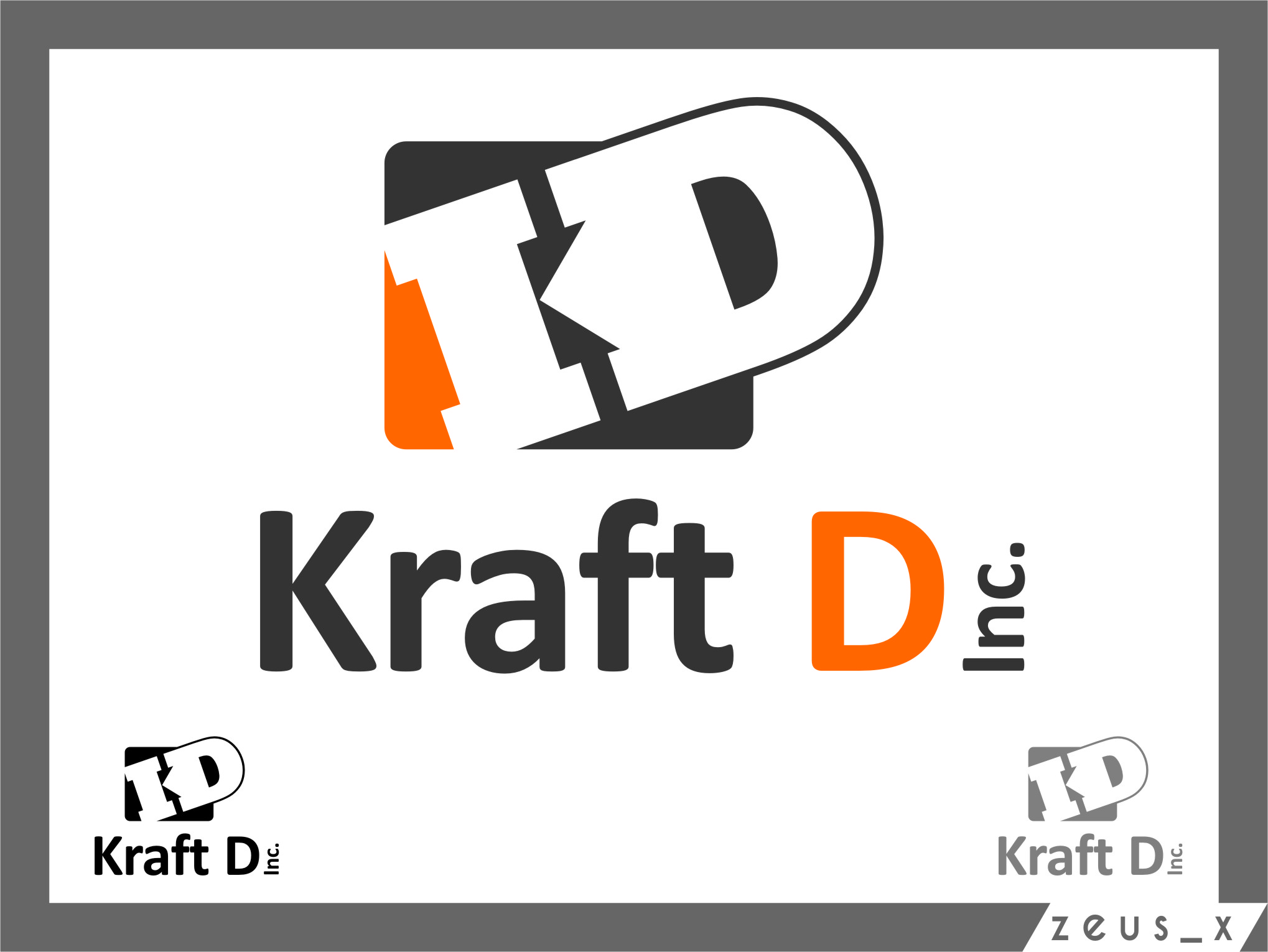 Logo Design by Ngepet_art - Entry No. 331 in the Logo Design Contest Unique Logo Design Wanted for Kraft D Inc.