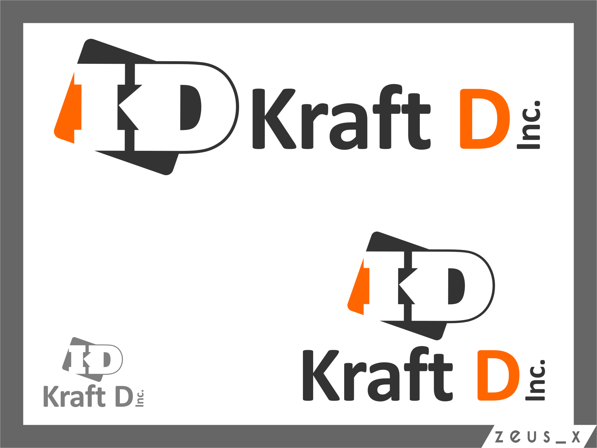 Logo Design by RasYa Muhammad Athaya - Entry No. 332 in the Logo Design Contest Unique Logo Design Wanted for Kraft D Inc.
