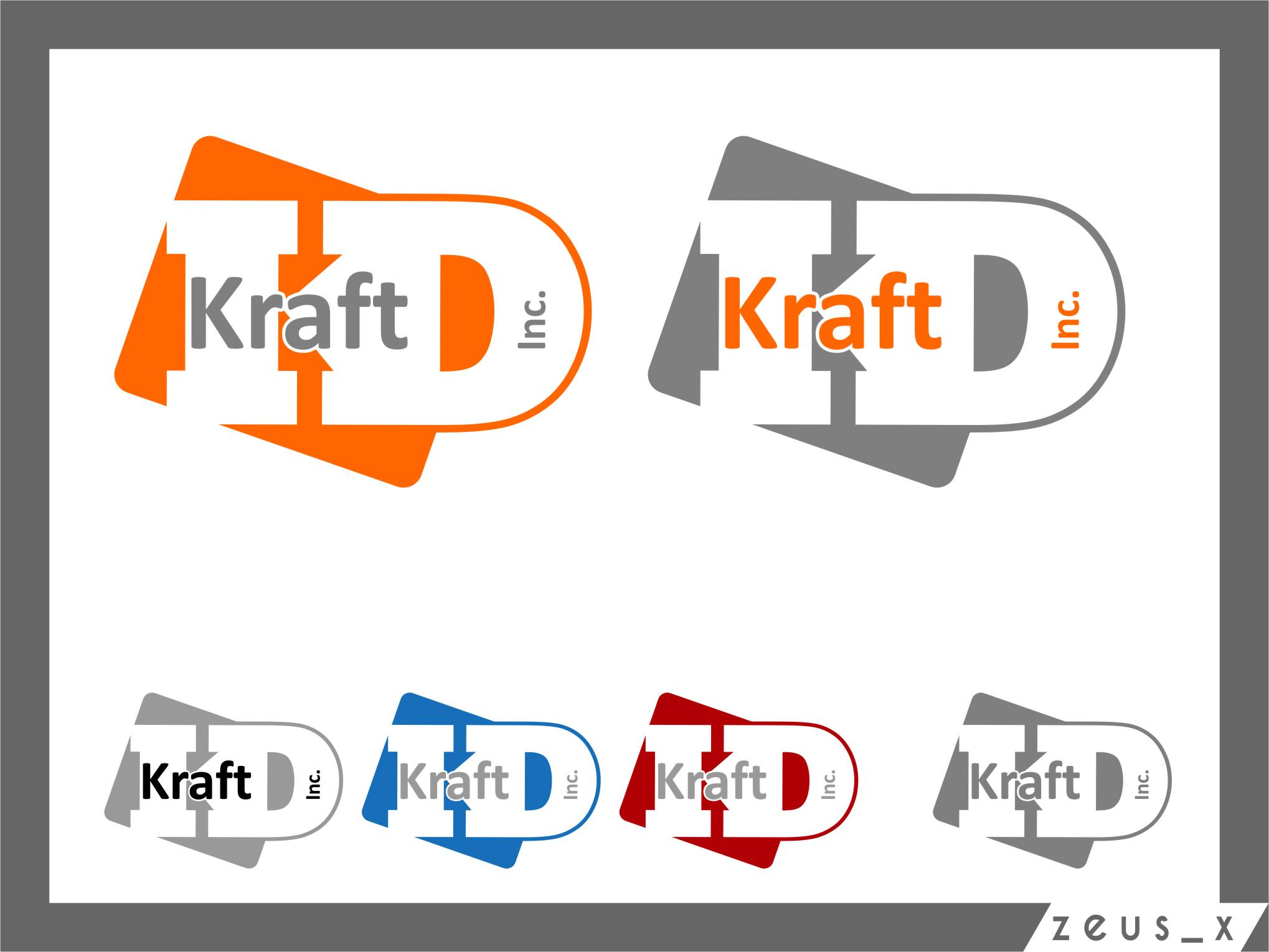 Logo Design by Ngepet_art - Entry No. 333 in the Logo Design Contest Unique Logo Design Wanted for Kraft D Inc.
