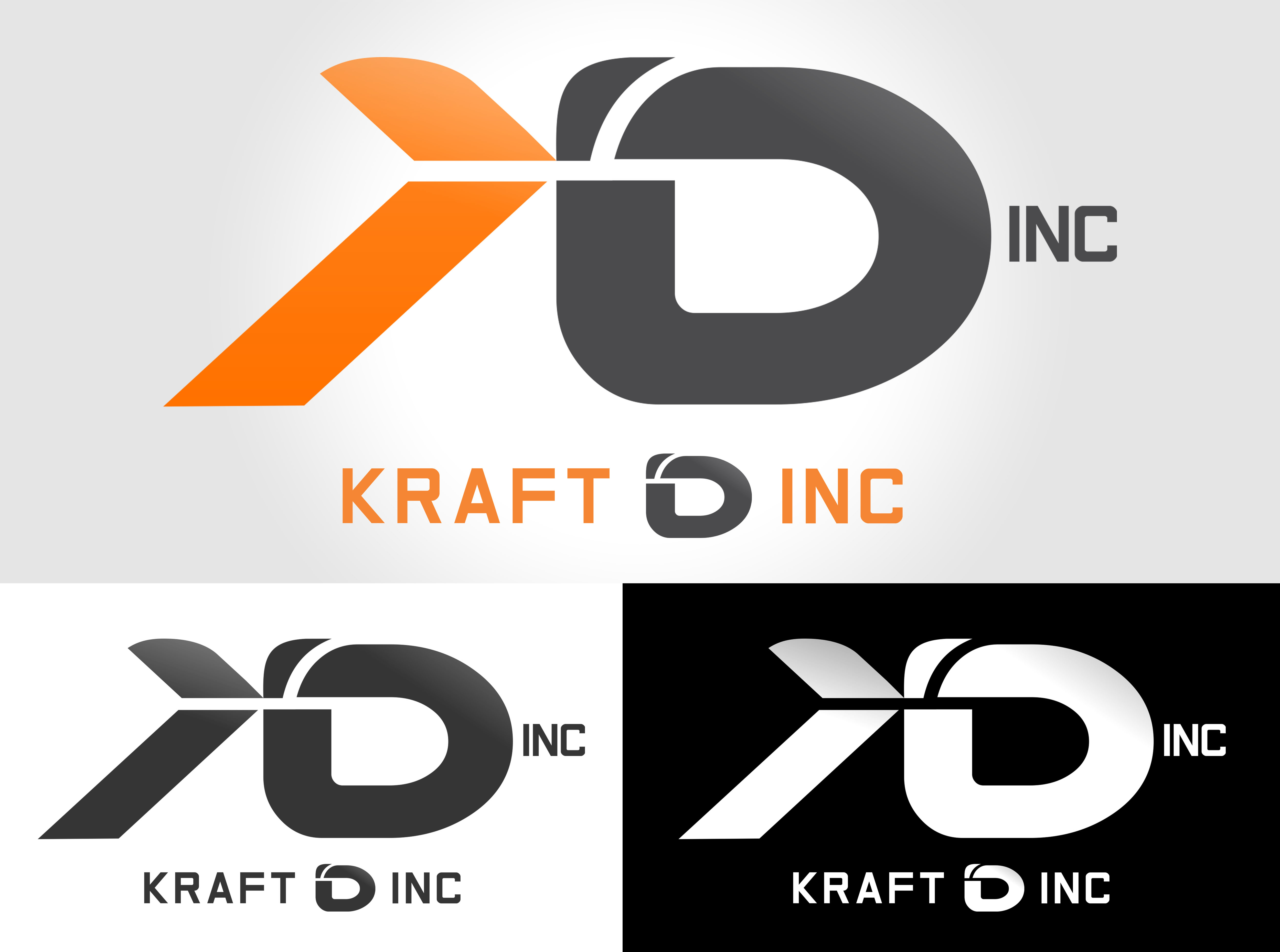 Logo Design by Private User - Entry No. 343 in the Logo Design Contest Unique Logo Design Wanted for Kraft D Inc.