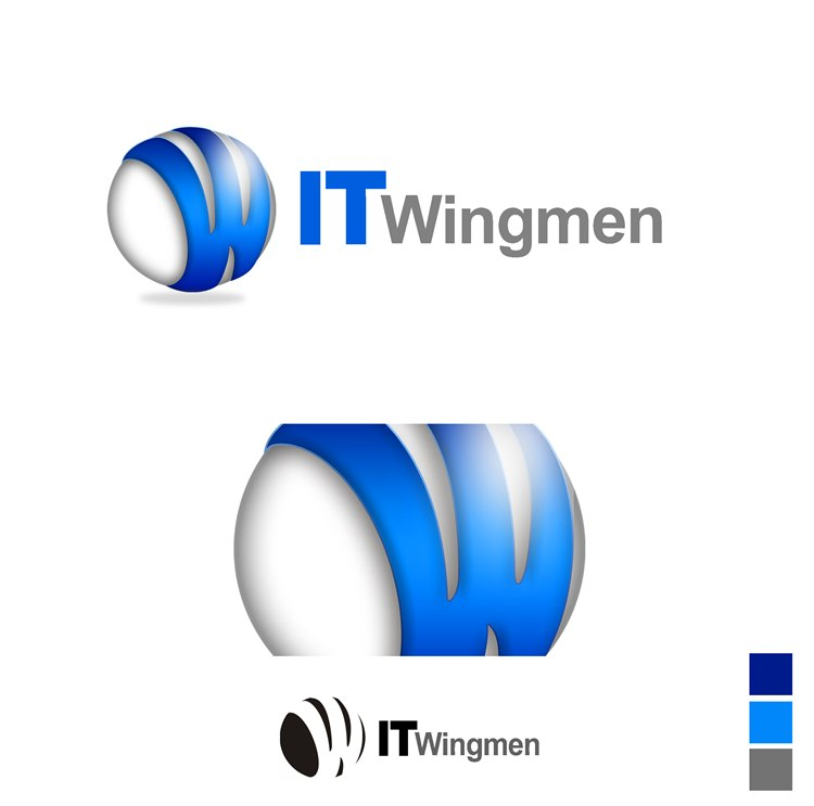 Logo Design by Respati Himawan - Entry No. 6 in the Logo Design Contest New Logo Design for IT Wingmen.