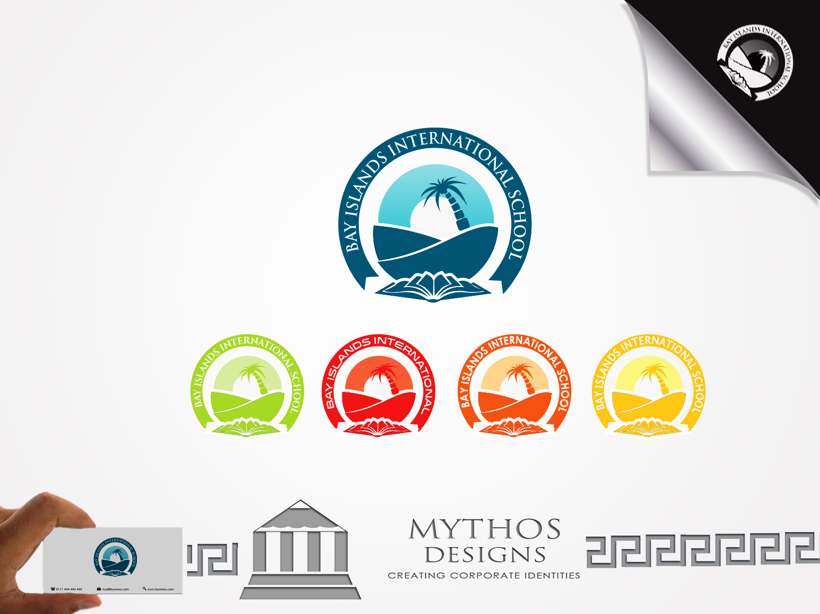 Logo Design by Mythos Designs - Entry No. 68 in the Logo Design Contest Creative Logo Design for Bay Islands International School.