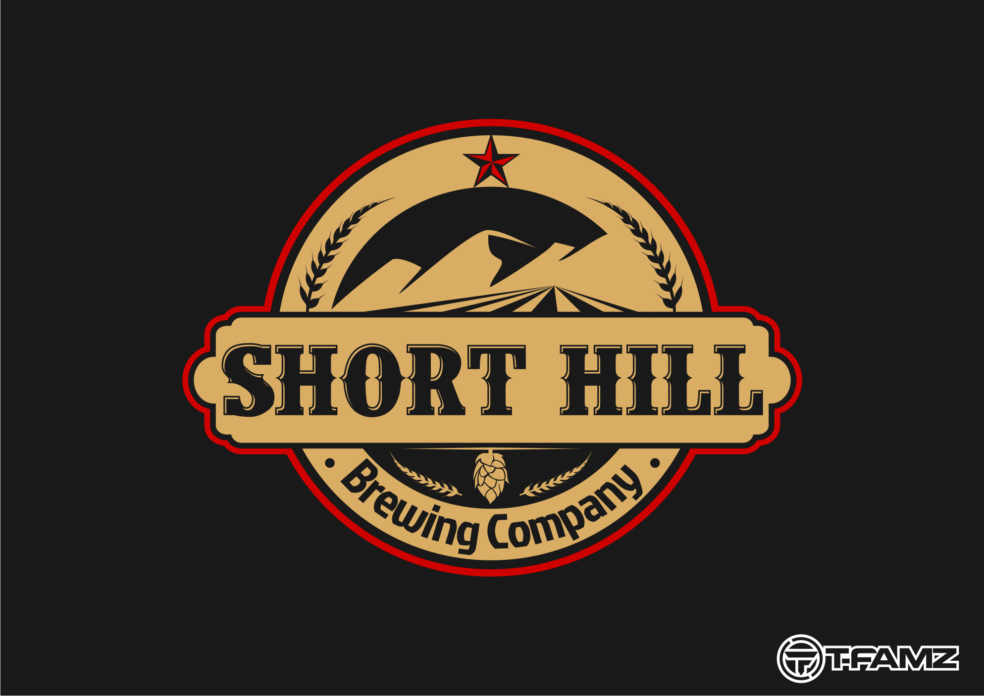 Logo Design by Tille Famz - Entry No. 32 in the Logo Design Contest Unique Logo Design Wanted for Short Hill Brewing Company.