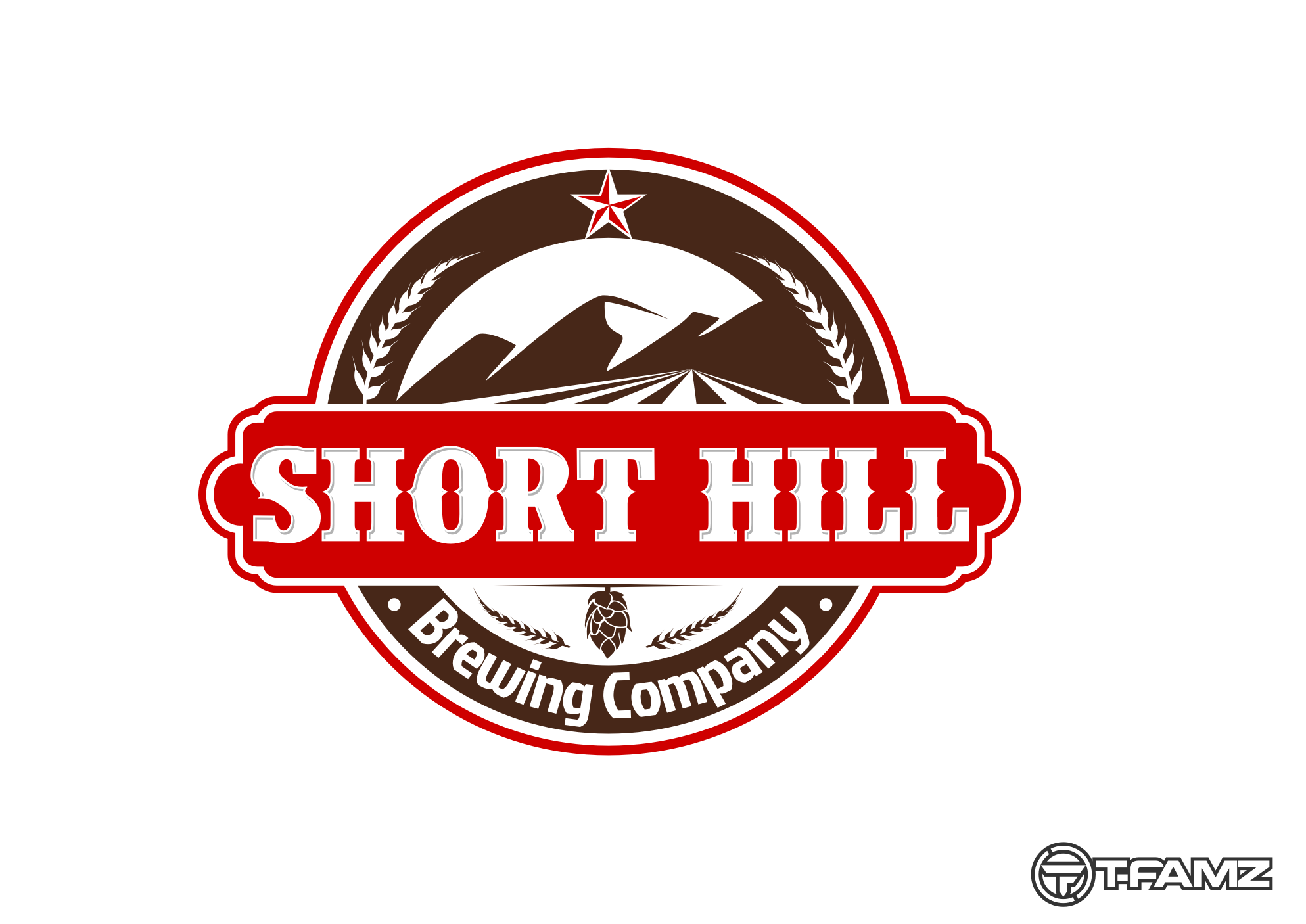 Logo Design by Tille Famz - Entry No. 33 in the Logo Design Contest Unique Logo Design Wanted for Short Hill Brewing Company.