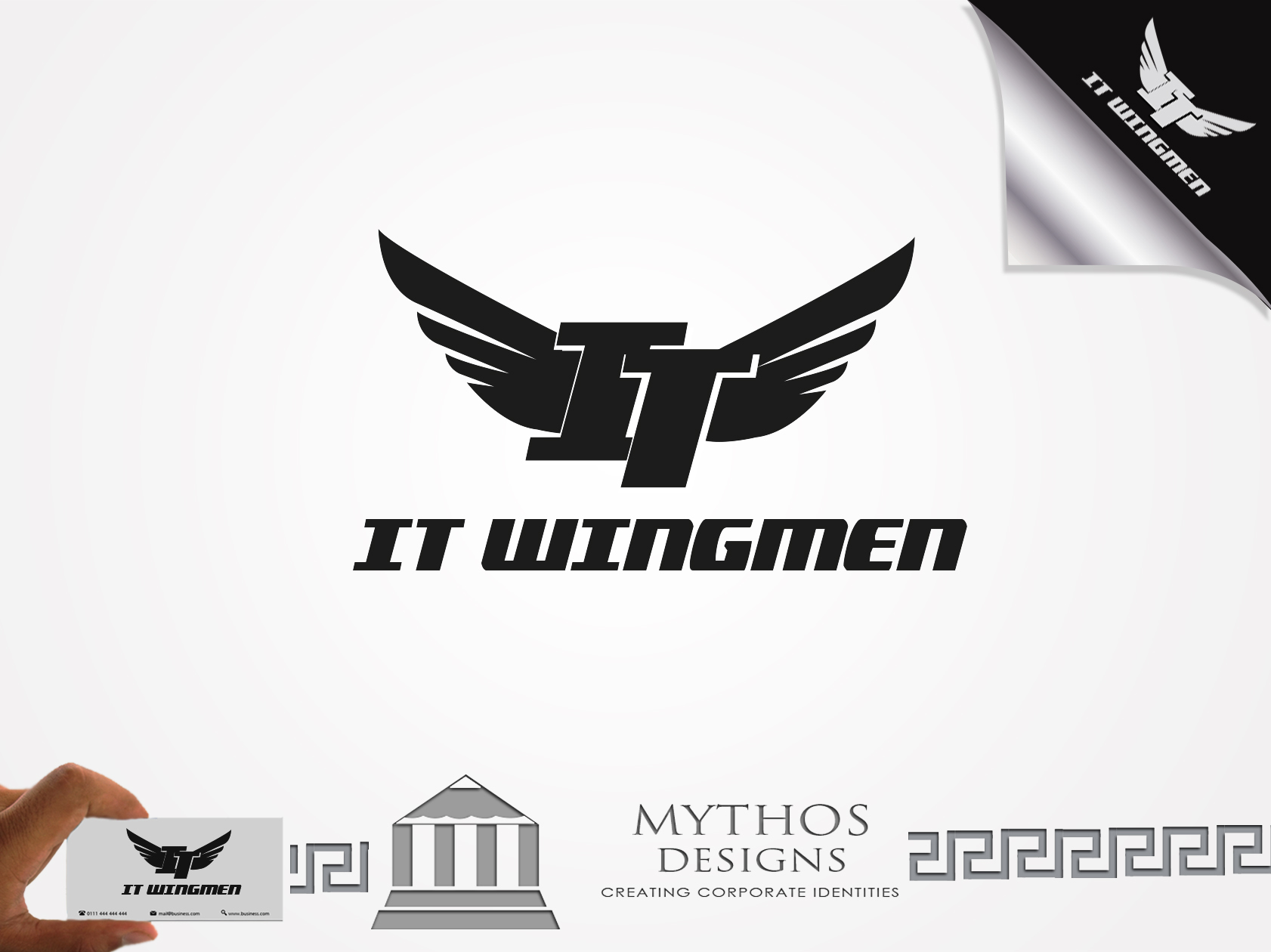 Logo Design by Mythos Designs - Entry No. 8 in the Logo Design Contest New Logo Design for IT Wingmen.