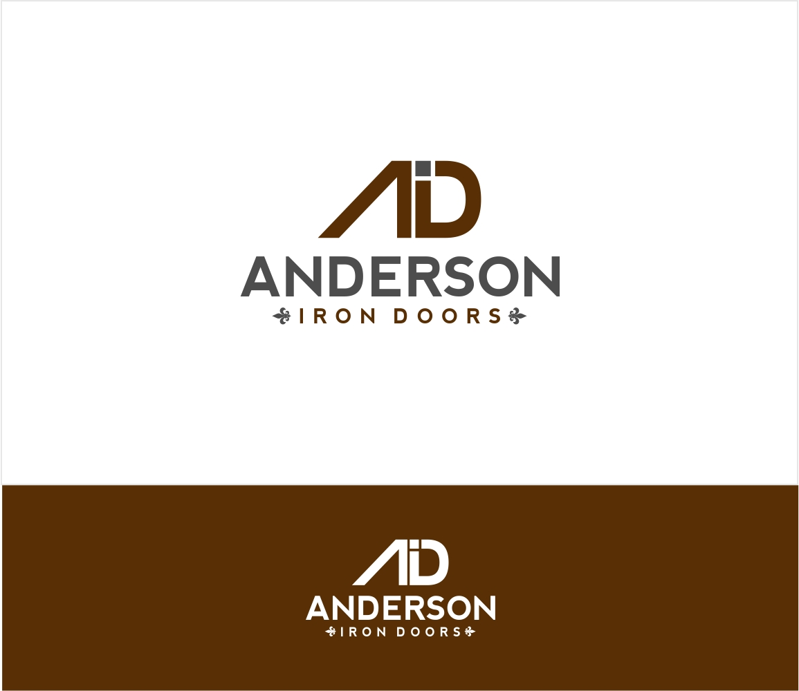 Logo Design by haidu - Entry No. 52 in the Logo Design Contest Artistic Logo Design for Anderson Iron Doors.