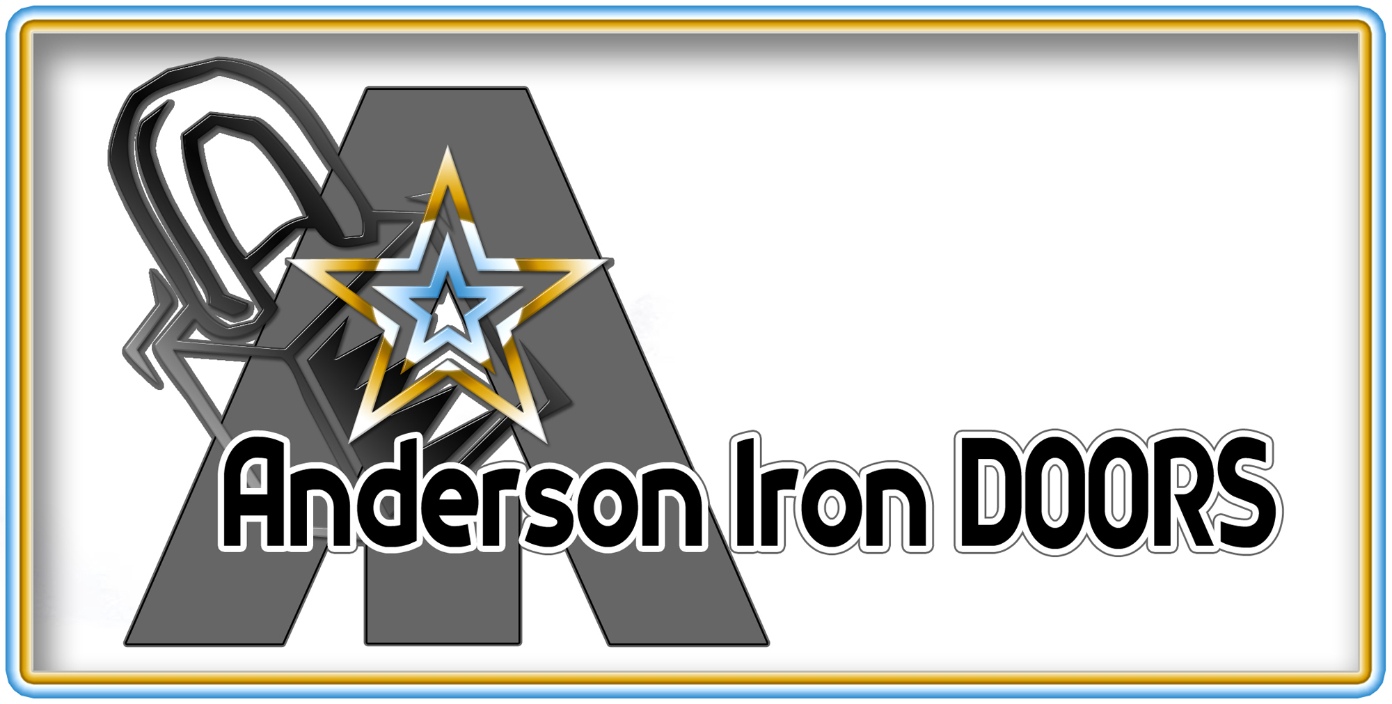 Logo Design by MITUCA ANDREI - Entry No. 55 in the Logo Design Contest Artistic Logo Design for Anderson Iron Doors.