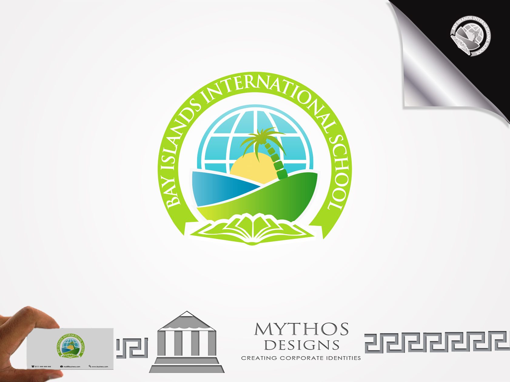 Logo Design by Mythos Designs - Entry No. 90 in the Logo Design Contest Creative Logo Design for Bay Islands International School.