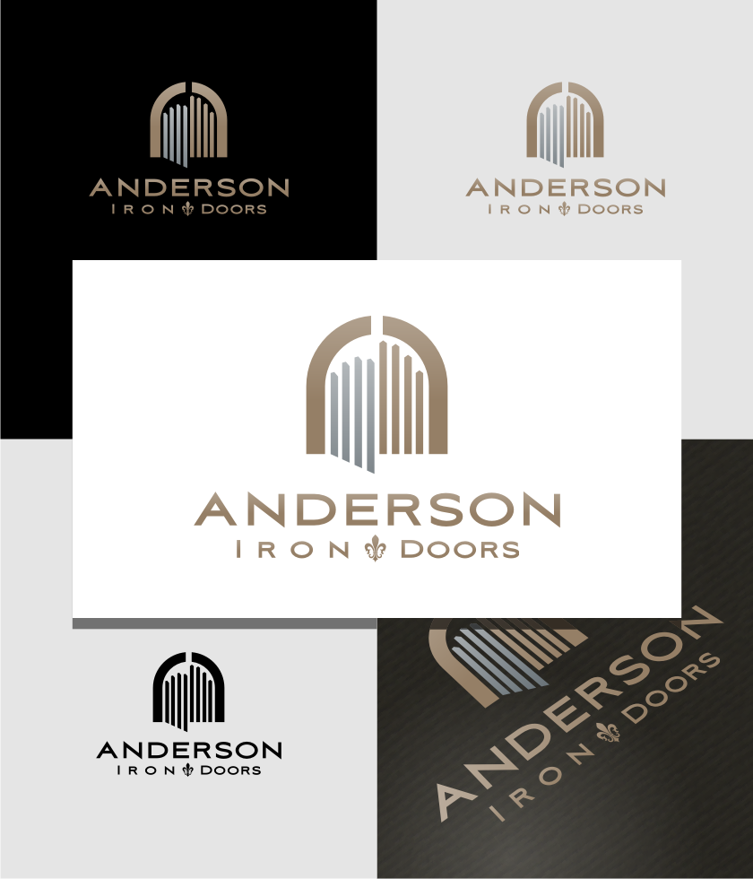 Logo Design by graphicleaf - Entry No. 58 in the Logo Design Contest Artistic Logo Design for Anderson Iron Doors.