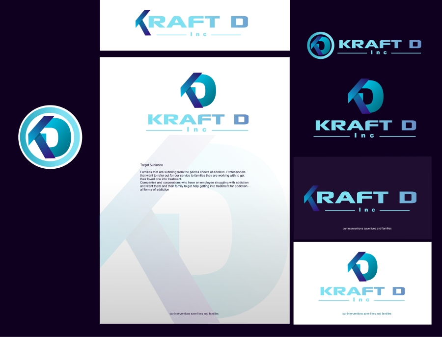 Logo Design by Private User - Entry No. 354 in the Logo Design Contest Unique Logo Design Wanted for Kraft D Inc.