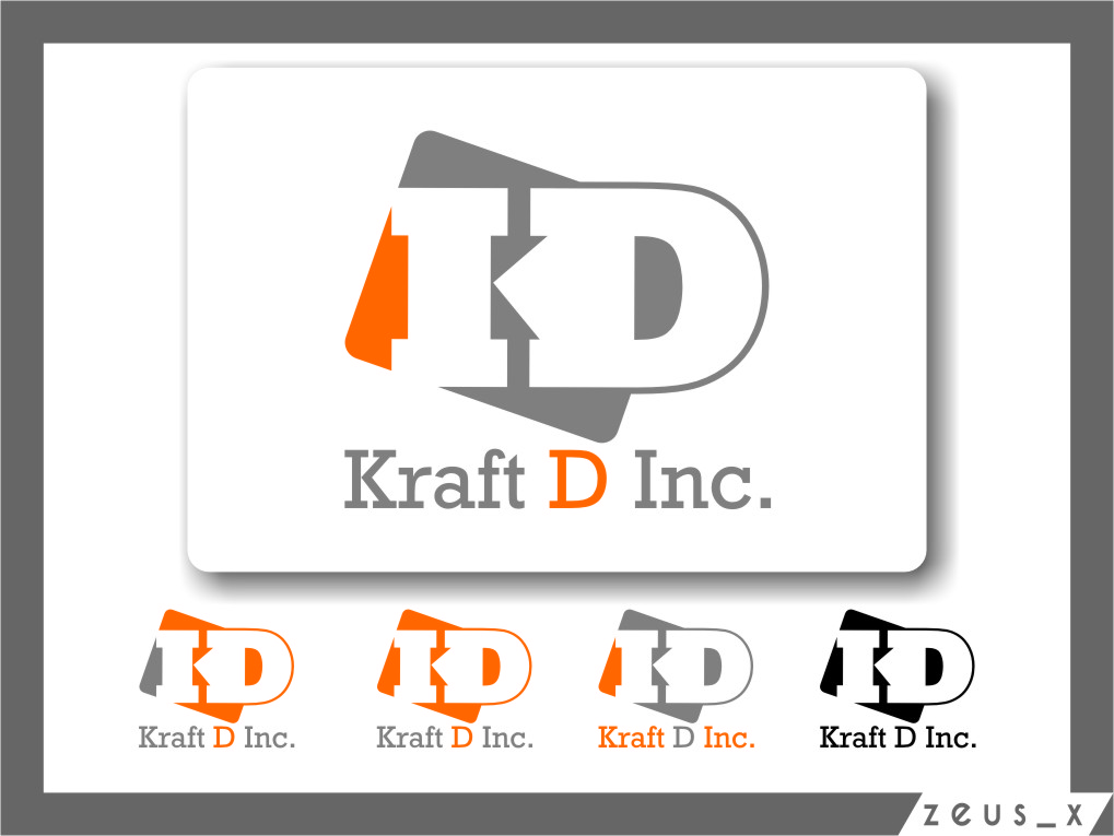 Logo Design by RoSyid Rono-Rene On Java - Entry No. 356 in the Logo Design Contest Unique Logo Design Wanted for Kraft D Inc.