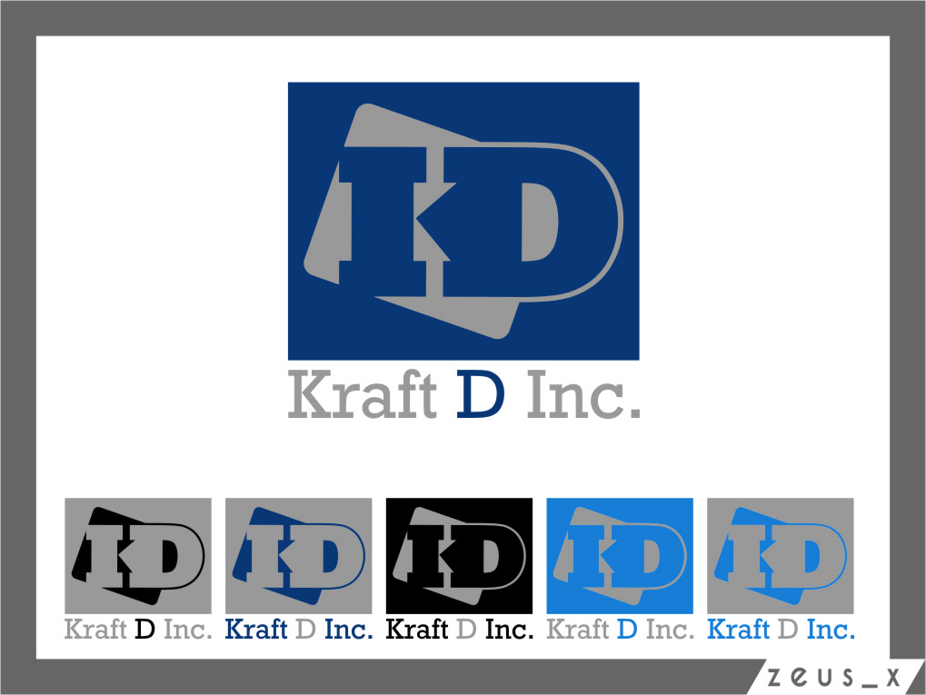 Logo Design by Ngepet_art - Entry No. 358 in the Logo Design Contest Unique Logo Design Wanted for Kraft D Inc.