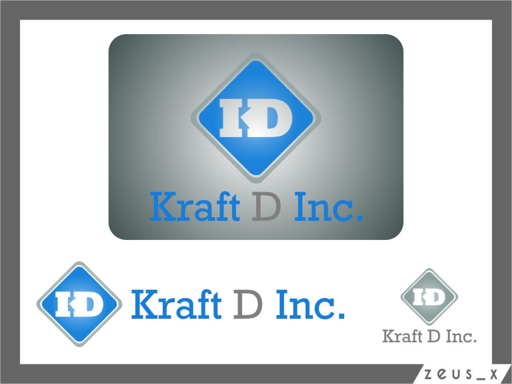 Logo Design by RasYa Muhammad Athaya - Entry No. 361 in the Logo Design Contest Unique Logo Design Wanted for Kraft D Inc.