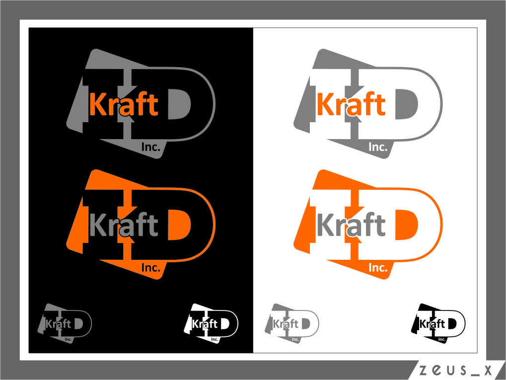 Logo Design by Ngepet_art - Entry No. 362 in the Logo Design Contest Unique Logo Design Wanted for Kraft D Inc.
