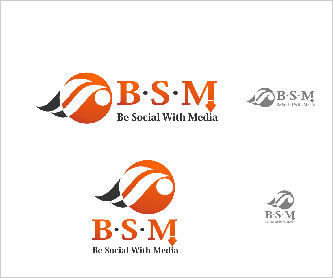 Logo Design by Private User - Entry No. 9 in the Logo Design Contest Imaginative Logo Design for Be Social With Media.