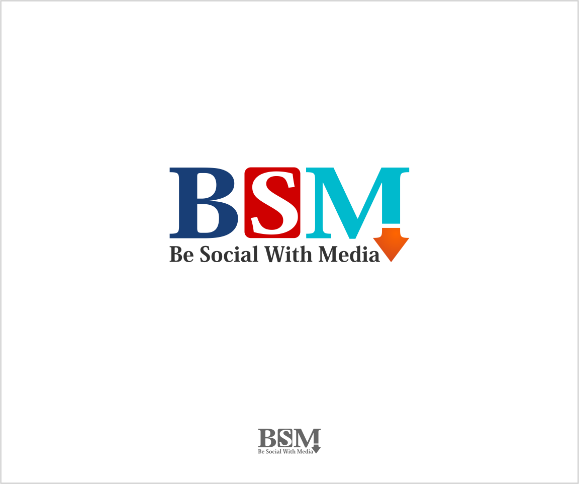 Logo Design by Private User - Entry No. 10 in the Logo Design Contest Imaginative Logo Design for Be Social With Media.