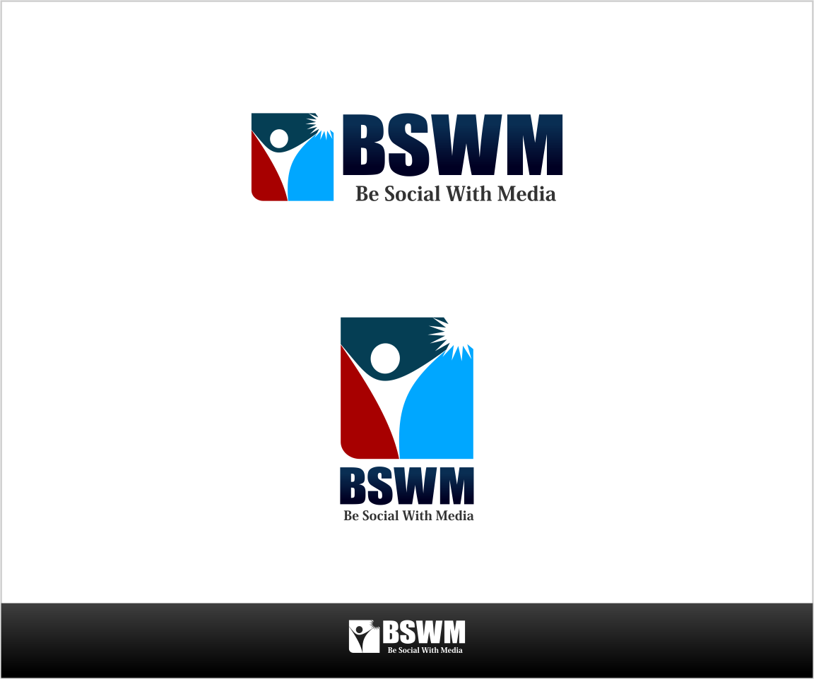 Logo Design by Private User - Entry No. 11 in the Logo Design Contest Imaginative Logo Design for Be Social With Media.