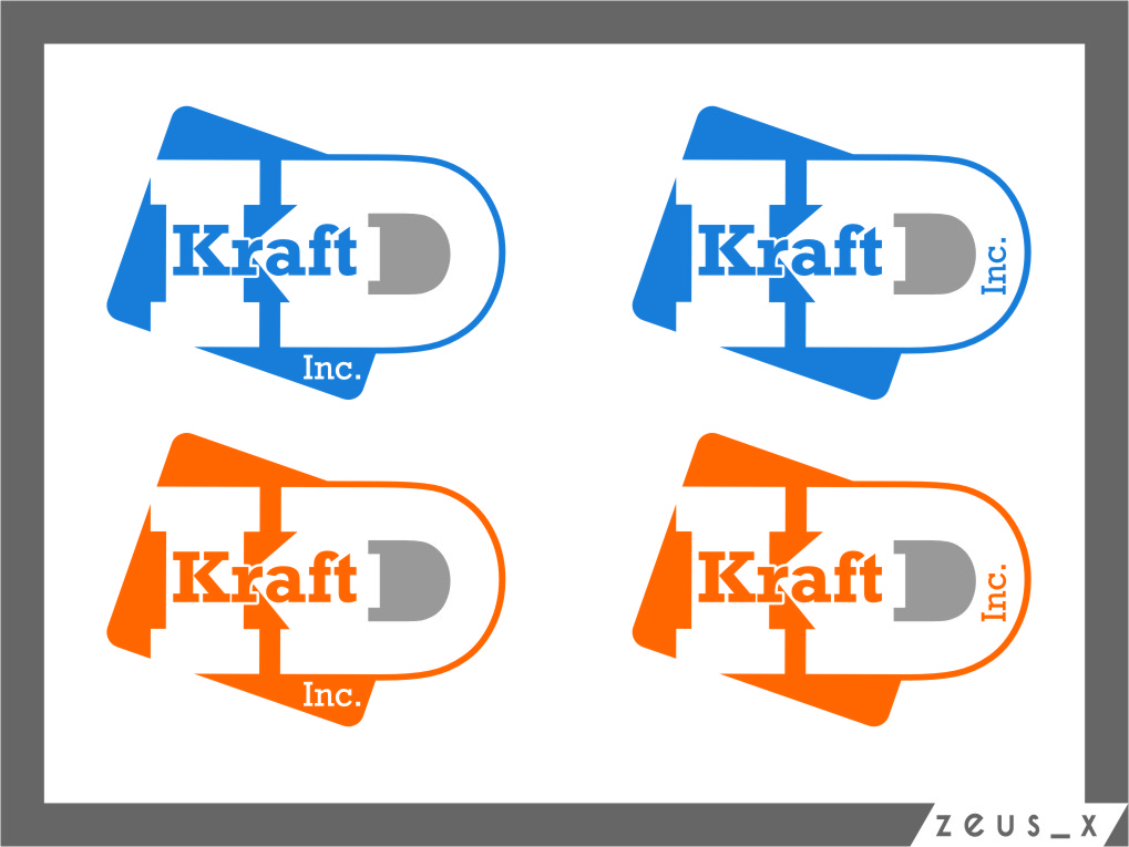 Logo Design by Ngepet_art - Entry No. 368 in the Logo Design Contest Unique Logo Design Wanted for Kraft D Inc.