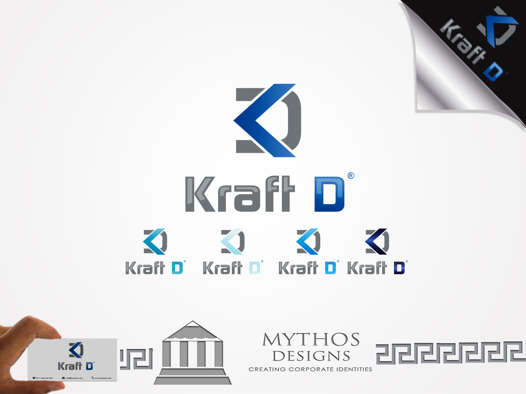 Logo Design by Mythos Designs - Entry No. 375 in the Logo Design Contest Unique Logo Design Wanted for Kraft D Inc.