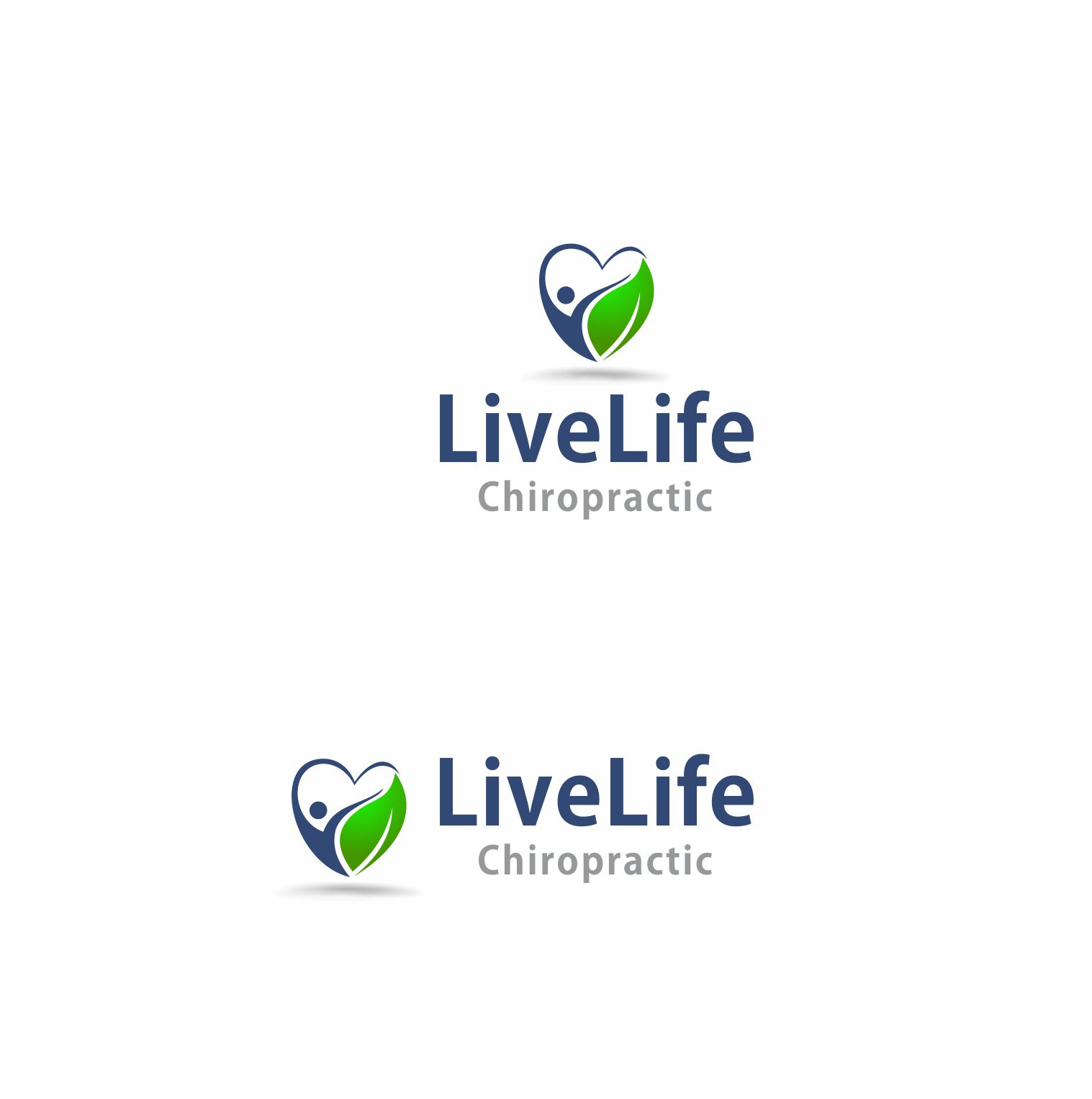 Logo Design by Muhammad Aslam - Entry No. 3 in the Logo Design Contest Captivating Logo Design for LiveLife Chiropractic.