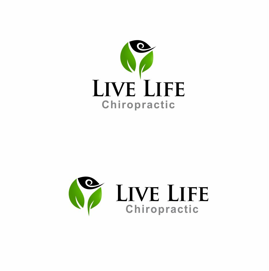 Logo Design by Muhammad Aslam - Entry No. 4 in the Logo Design Contest Captivating Logo Design for LiveLife Chiropractic.
