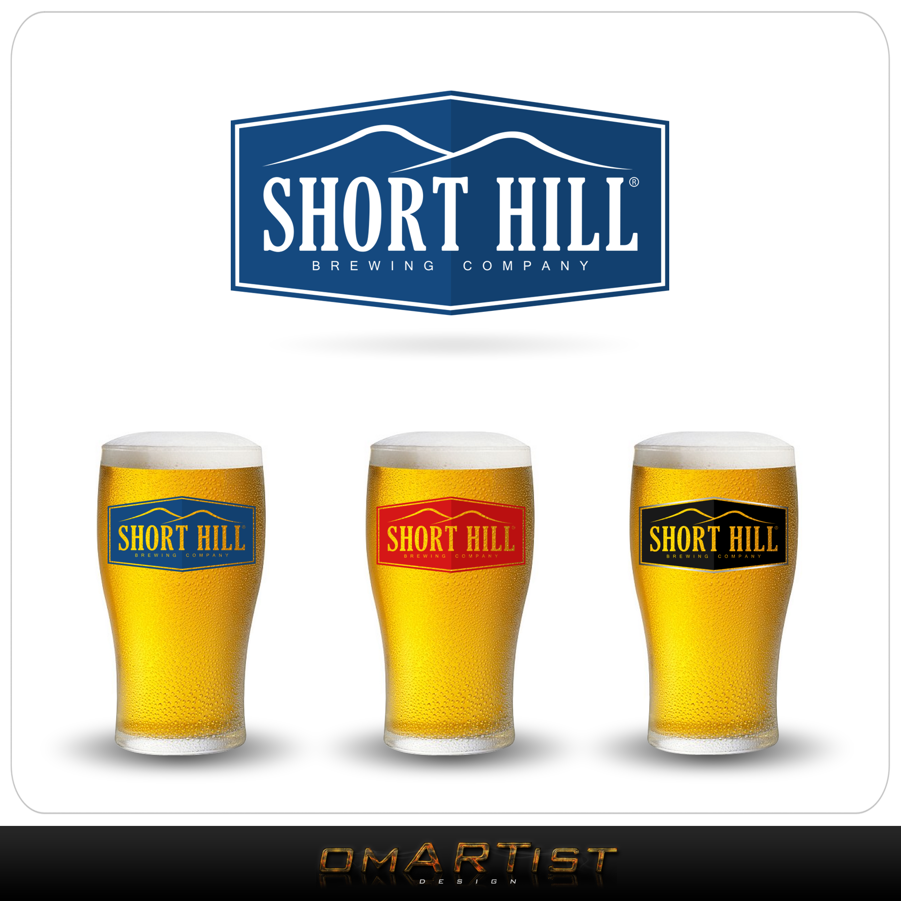 Logo Design by omARTist - Entry No. 49 in the Logo Design Contest Unique Logo Design Wanted for Short Hill Brewing Company.