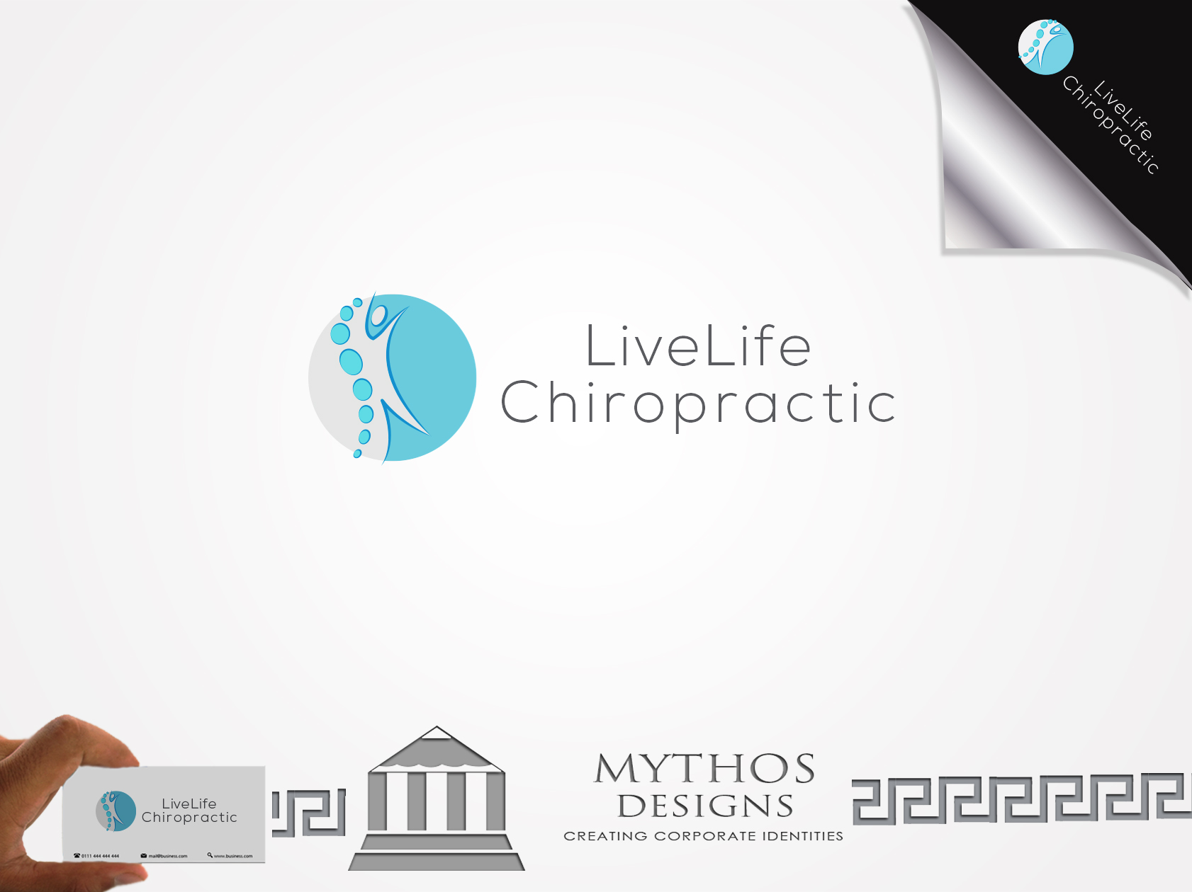 Logo Design by Mythos Designs - Entry No. 7 in the Logo Design Contest Captivating Logo Design for LiveLife Chiropractic.