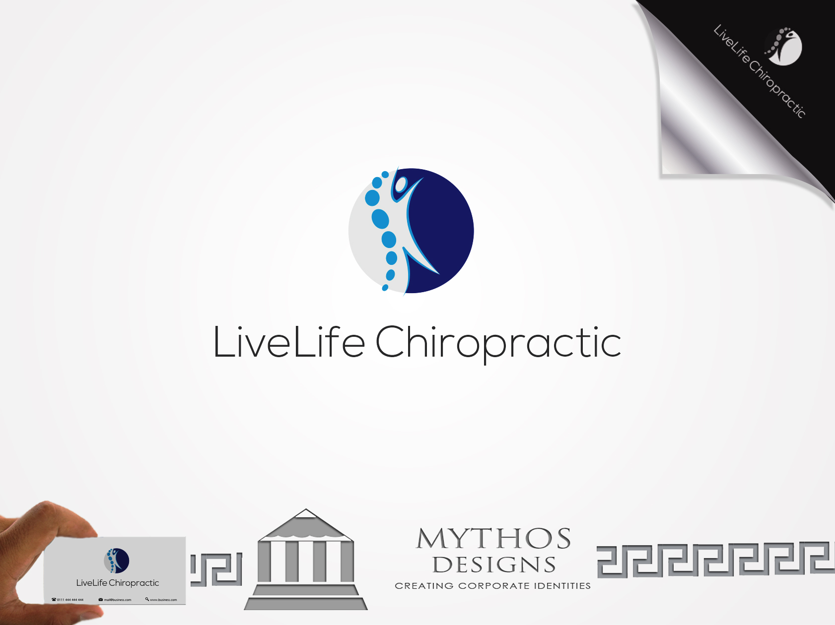 Logo Design by Mythos Designs - Entry No. 8 in the Logo Design Contest Captivating Logo Design for LiveLife Chiropractic.