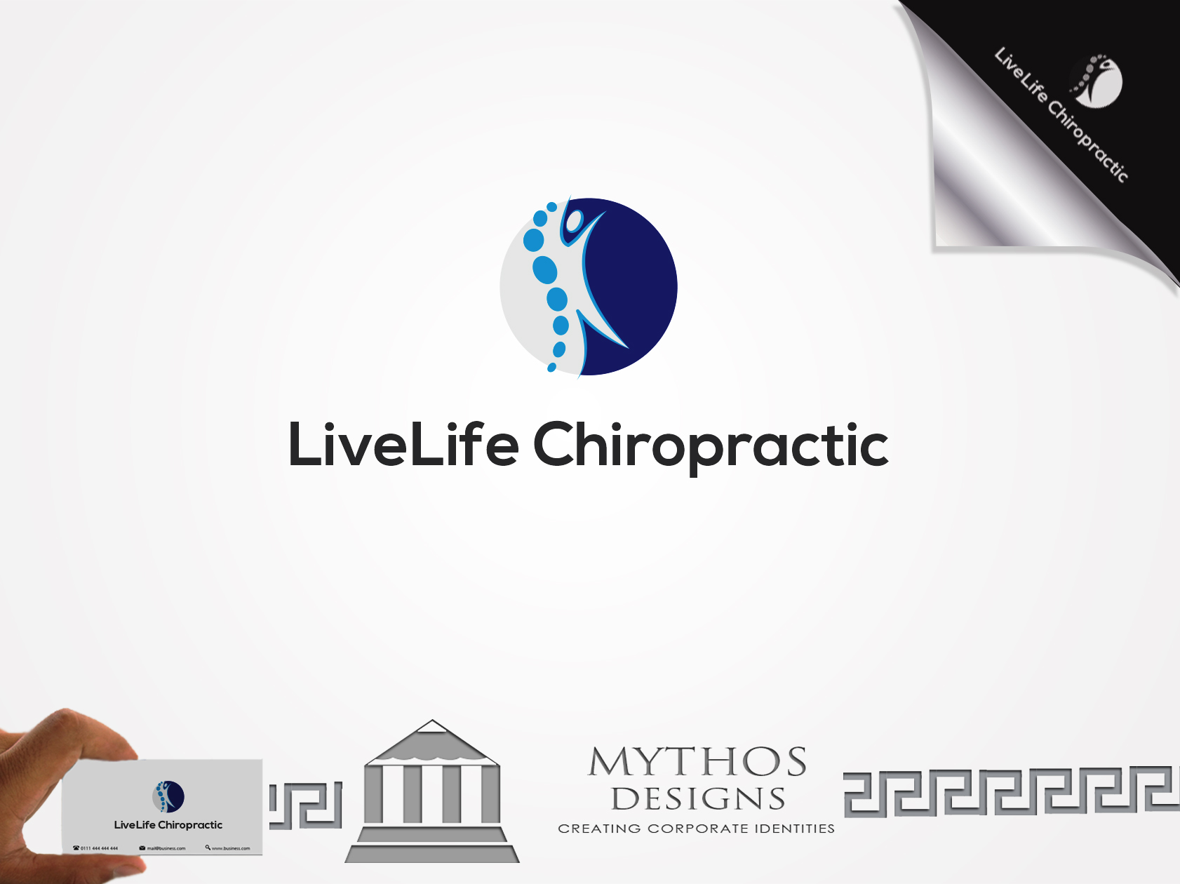 Logo Design by Mythos Designs - Entry No. 9 in the Logo Design Contest Captivating Logo Design for LiveLife Chiropractic.