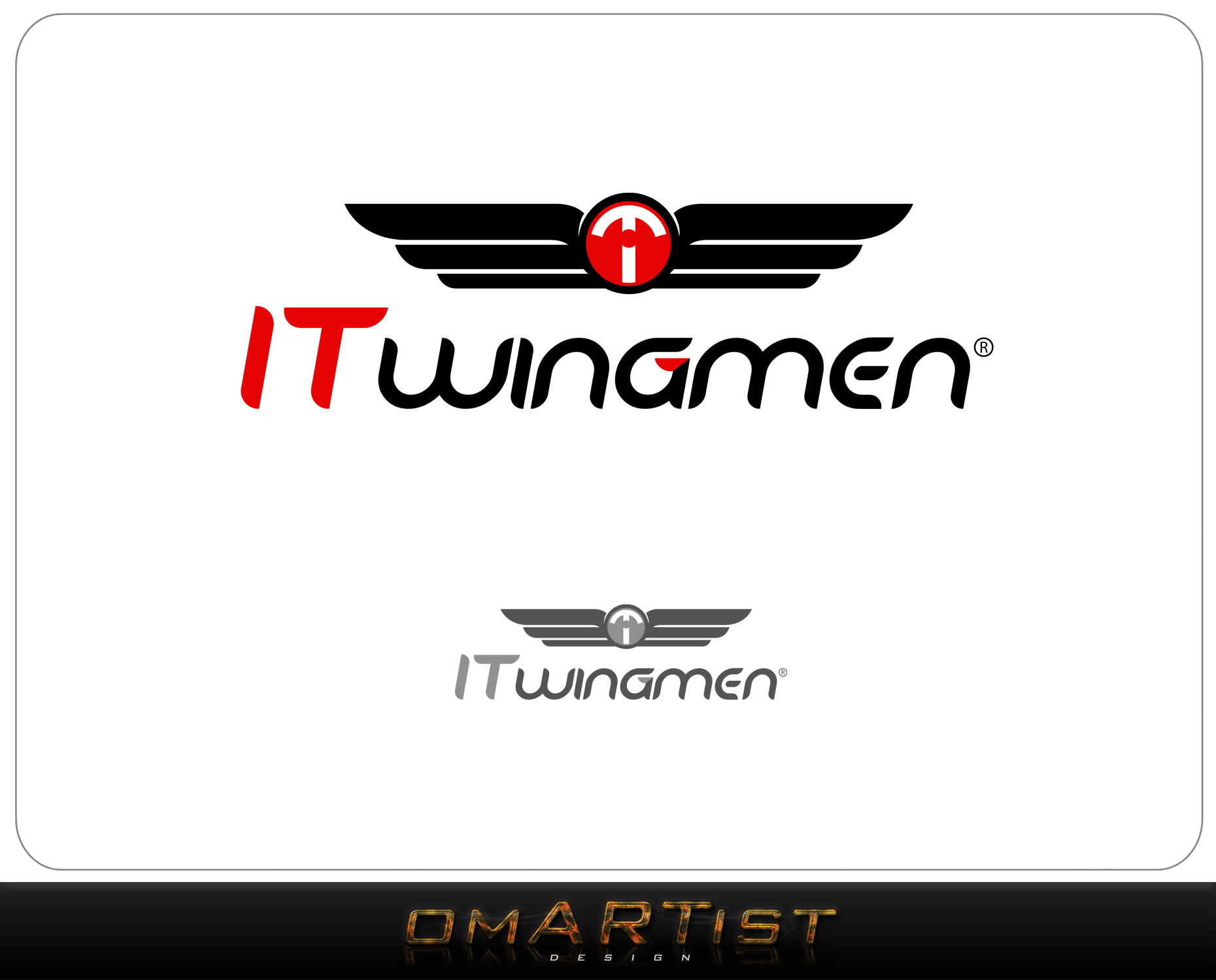 Logo Design by omARTist - Entry No. 28 in the Logo Design Contest New Logo Design for IT Wingmen.