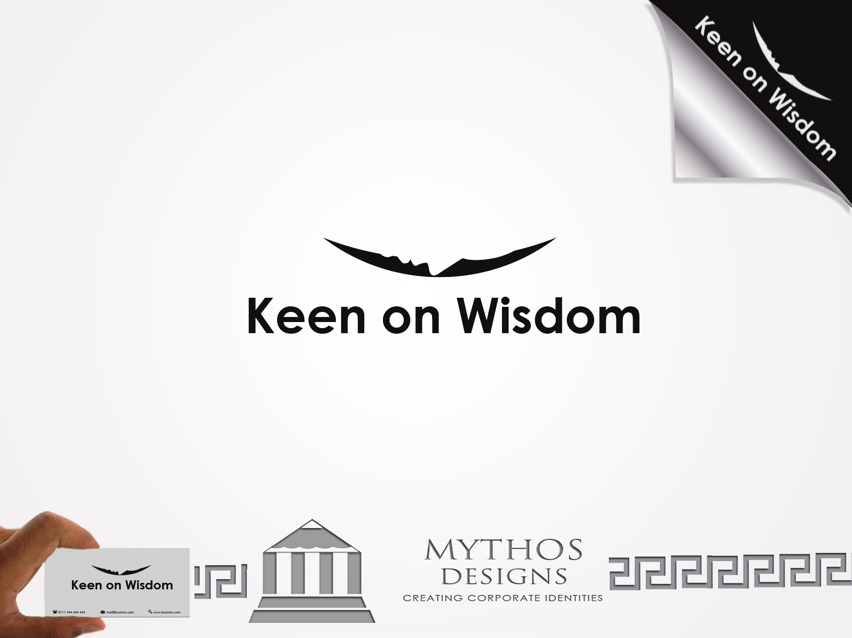 Logo Design by Mythos Designs - Entry No. 4 in the Logo Design Contest Logo Design for Keen on Wisdom, Keen for Life, Keen 4 Life.