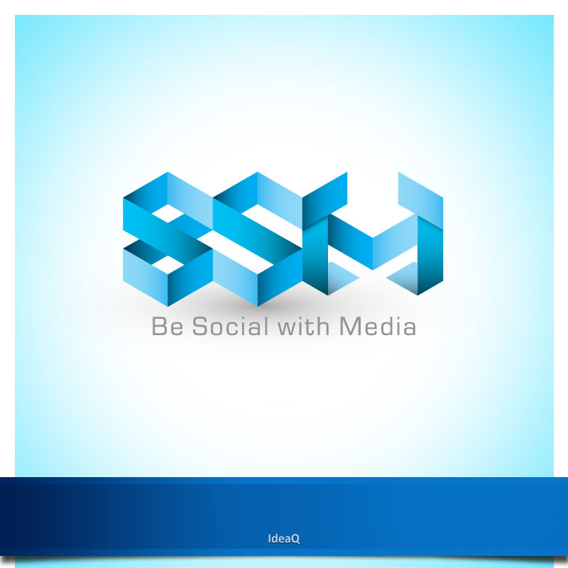 Logo Design by Private User - Entry No. 22 in the Logo Design Contest Imaginative Logo Design for Be Social With Media.