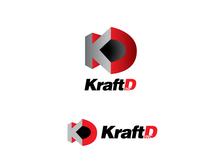 Logo Design by Severiano Fernandes - Entry No. 394 in the Logo Design Contest Unique Logo Design Wanted for Kraft D Inc.