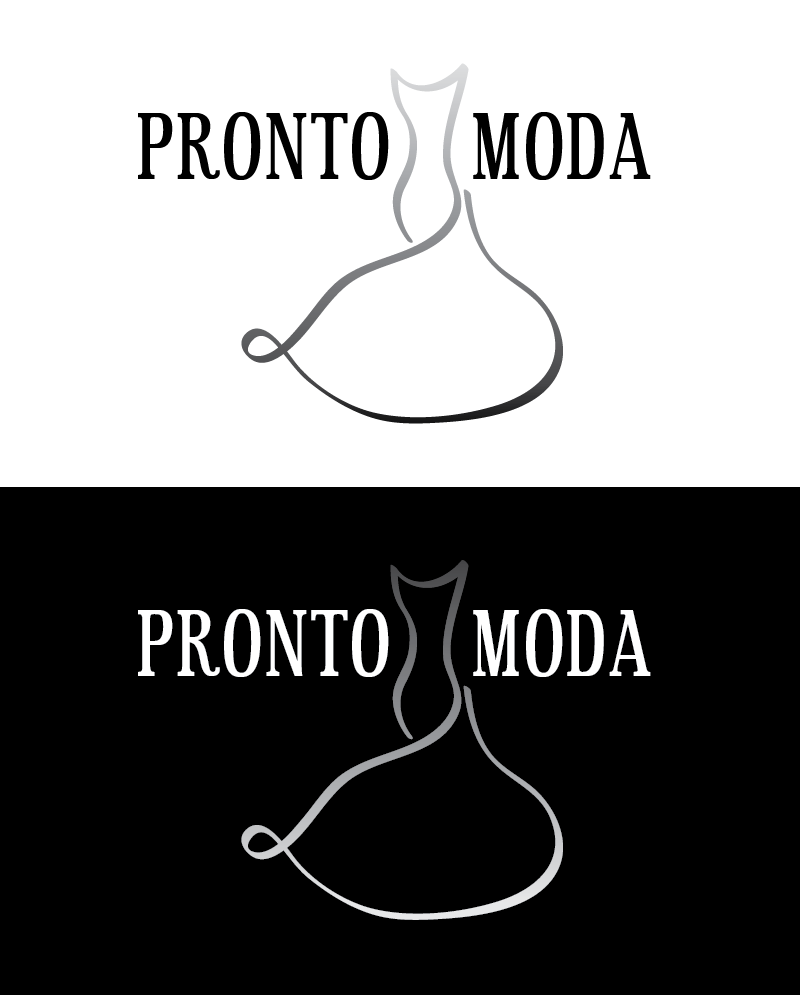 Logo Design by Christina Evans - Entry No. 39 in the Logo Design Contest Captivating Logo Design for Pronto moda.