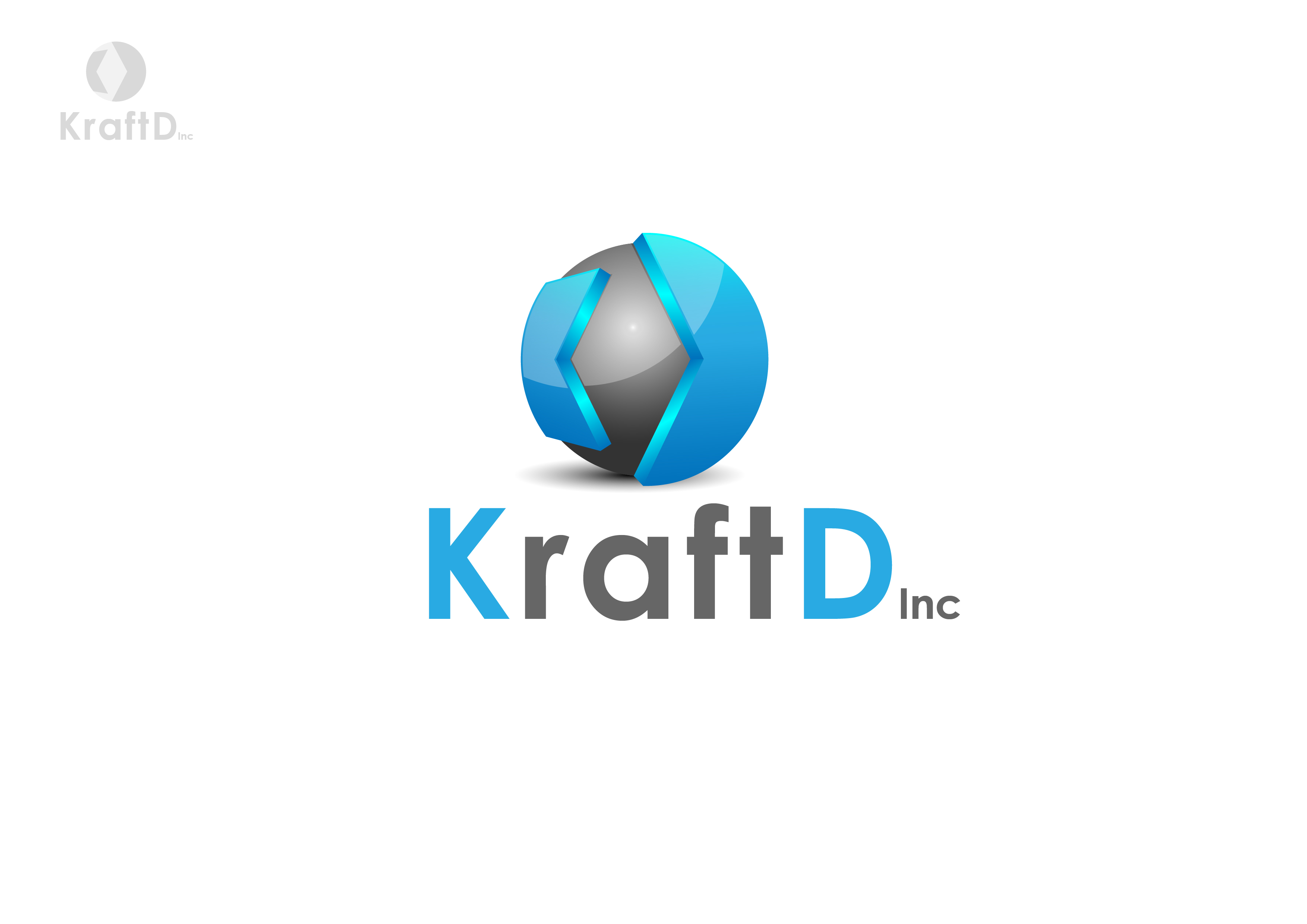 Logo Design by 3draw - Entry No. 409 in the Logo Design Contest Unique Logo Design Wanted for Kraft D Inc.