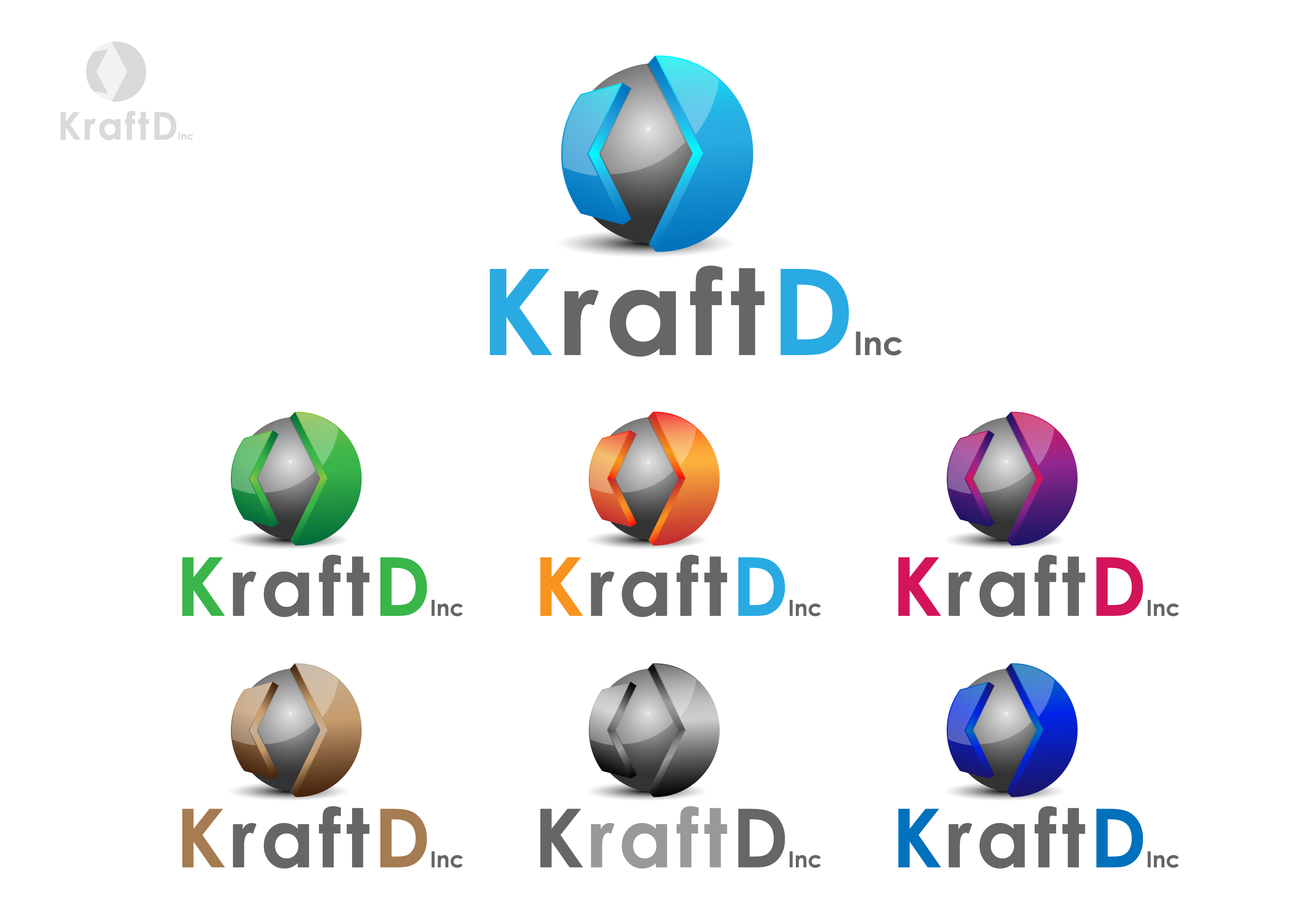 Logo Design by 3draw - Entry No. 410 in the Logo Design Contest Unique Logo Design Wanted for Kraft D Inc.