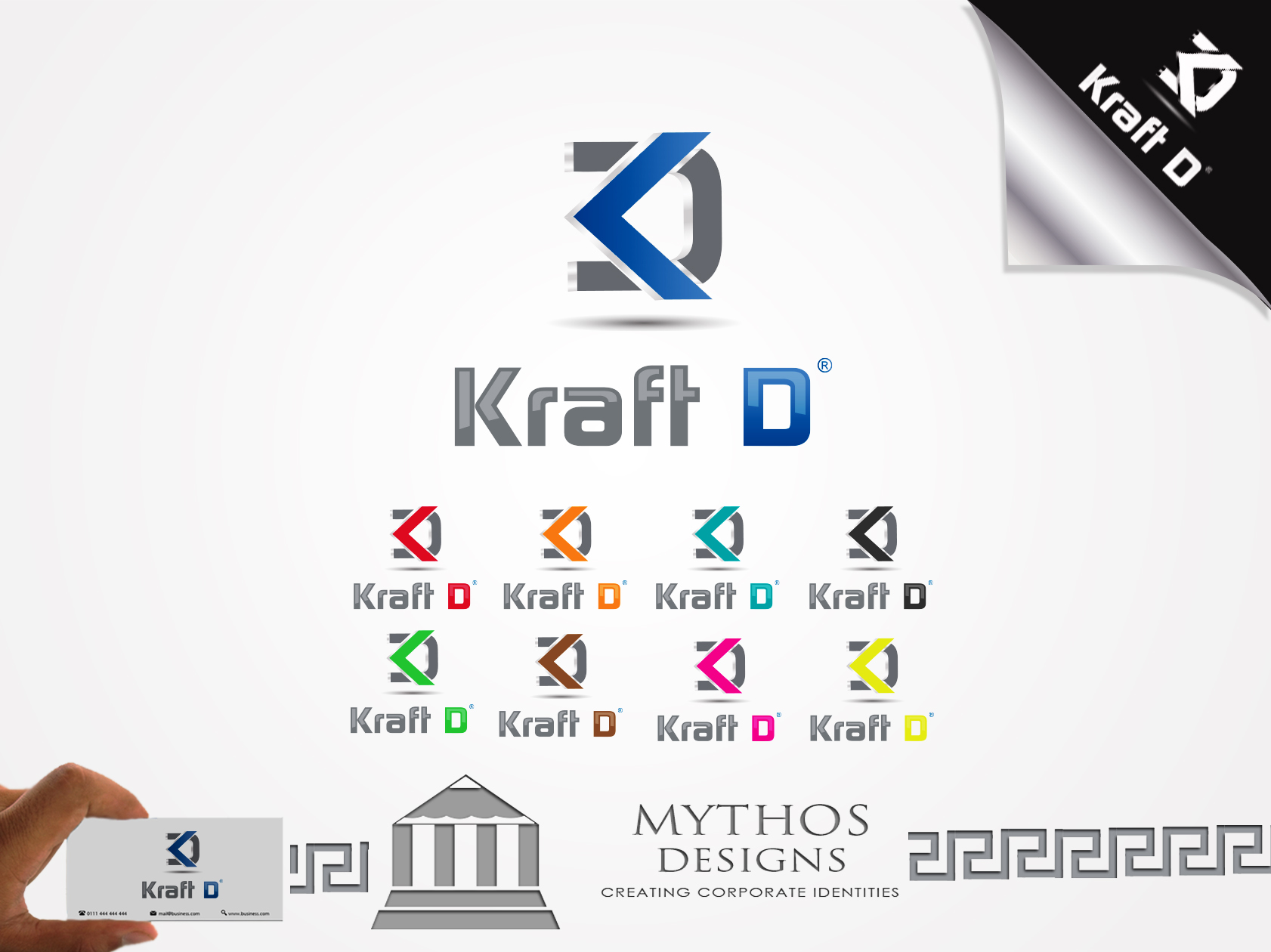 Logo Design by Mythos Designs - Entry No. 414 in the Logo Design Contest Unique Logo Design Wanted for Kraft D Inc.
