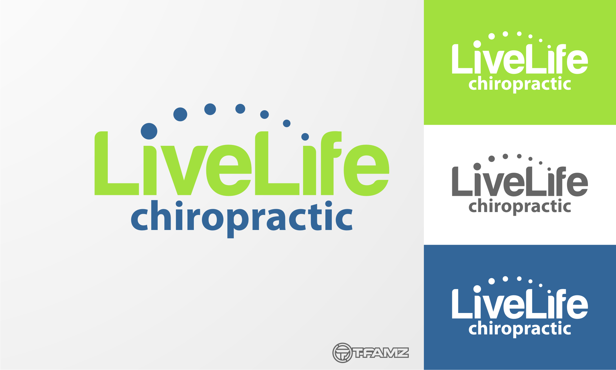 Logo Design by Tille Famz - Entry No. 13 in the Logo Design Contest Captivating Logo Design for LiveLife Chiropractic.