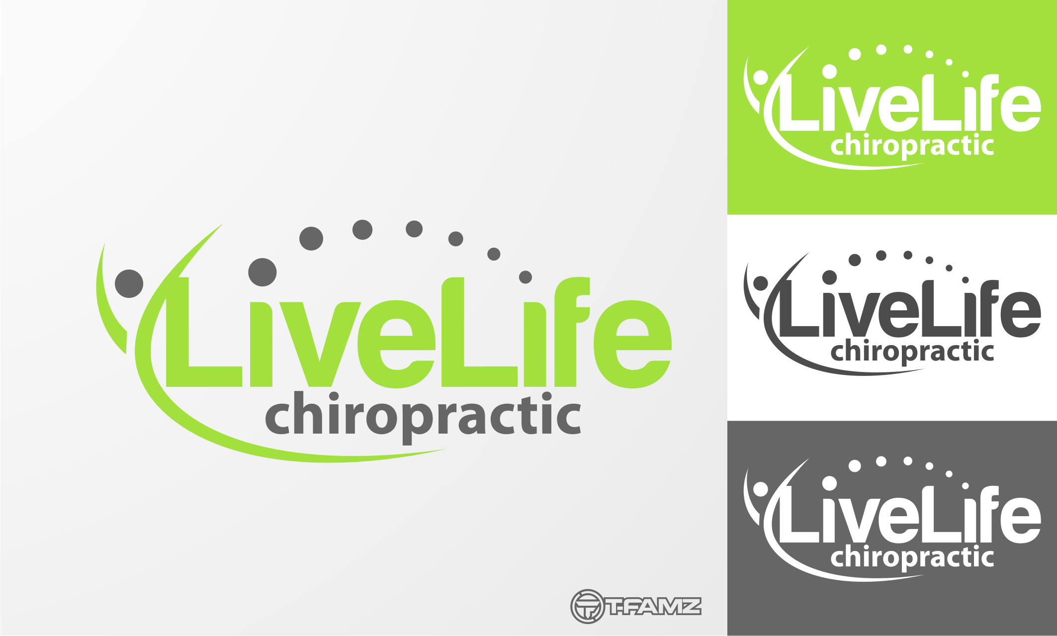 Logo Design by Tille Famz - Entry No. 14 in the Logo Design Contest Captivating Logo Design for LiveLife Chiropractic.
