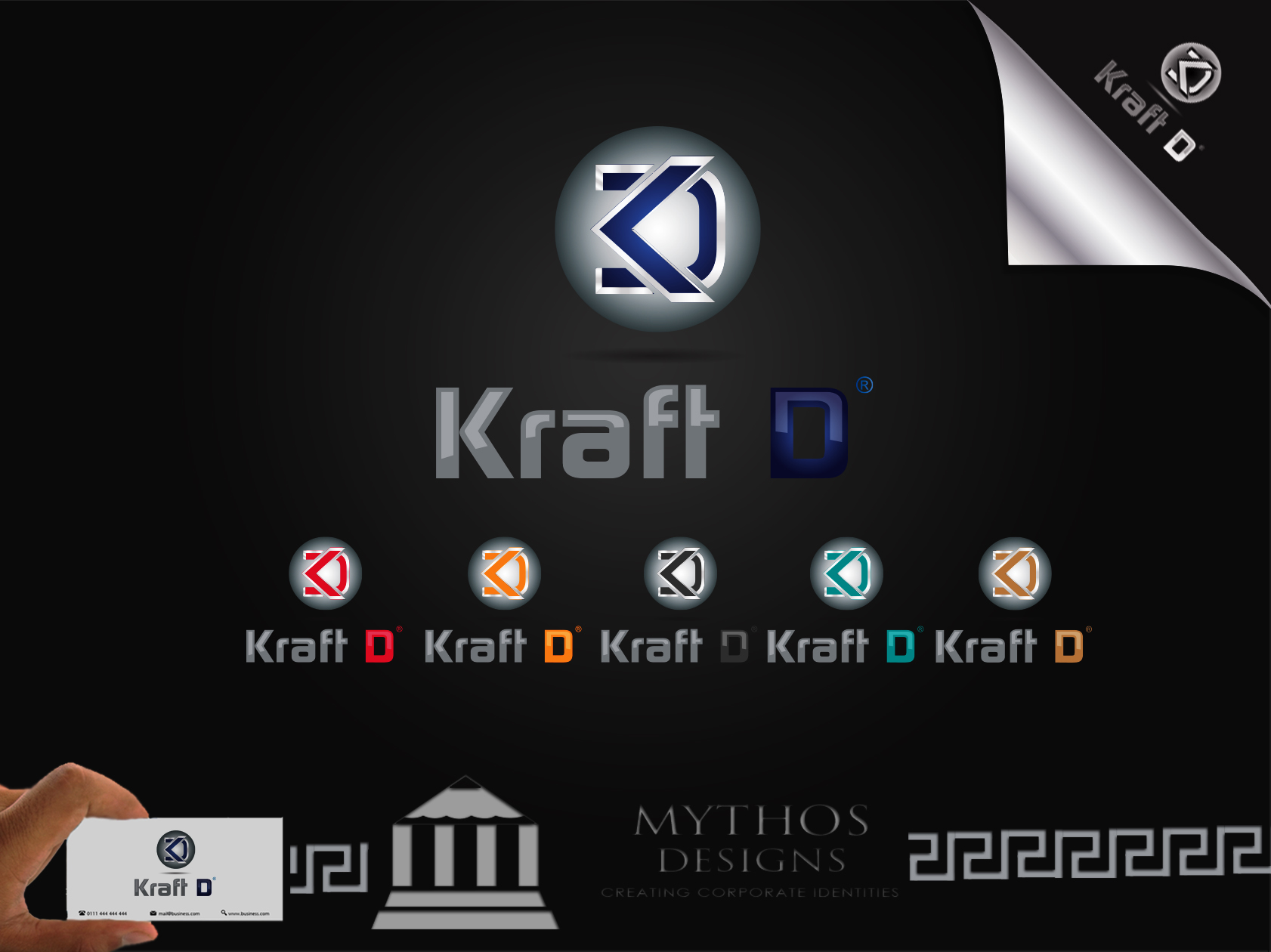 Logo Design by Mythos Designs - Entry No. 417 in the Logo Design Contest Unique Logo Design Wanted for Kraft D Inc.